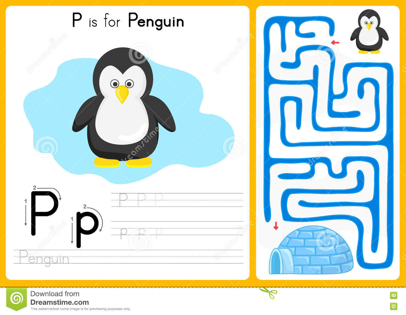 Alphabet A-Z Tracing and puzzle Worksheet, Exercises for kids ...