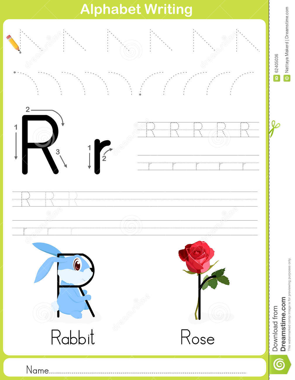 Alphabet A-Z Tracing Worksheet, Exercises For Kids - A4