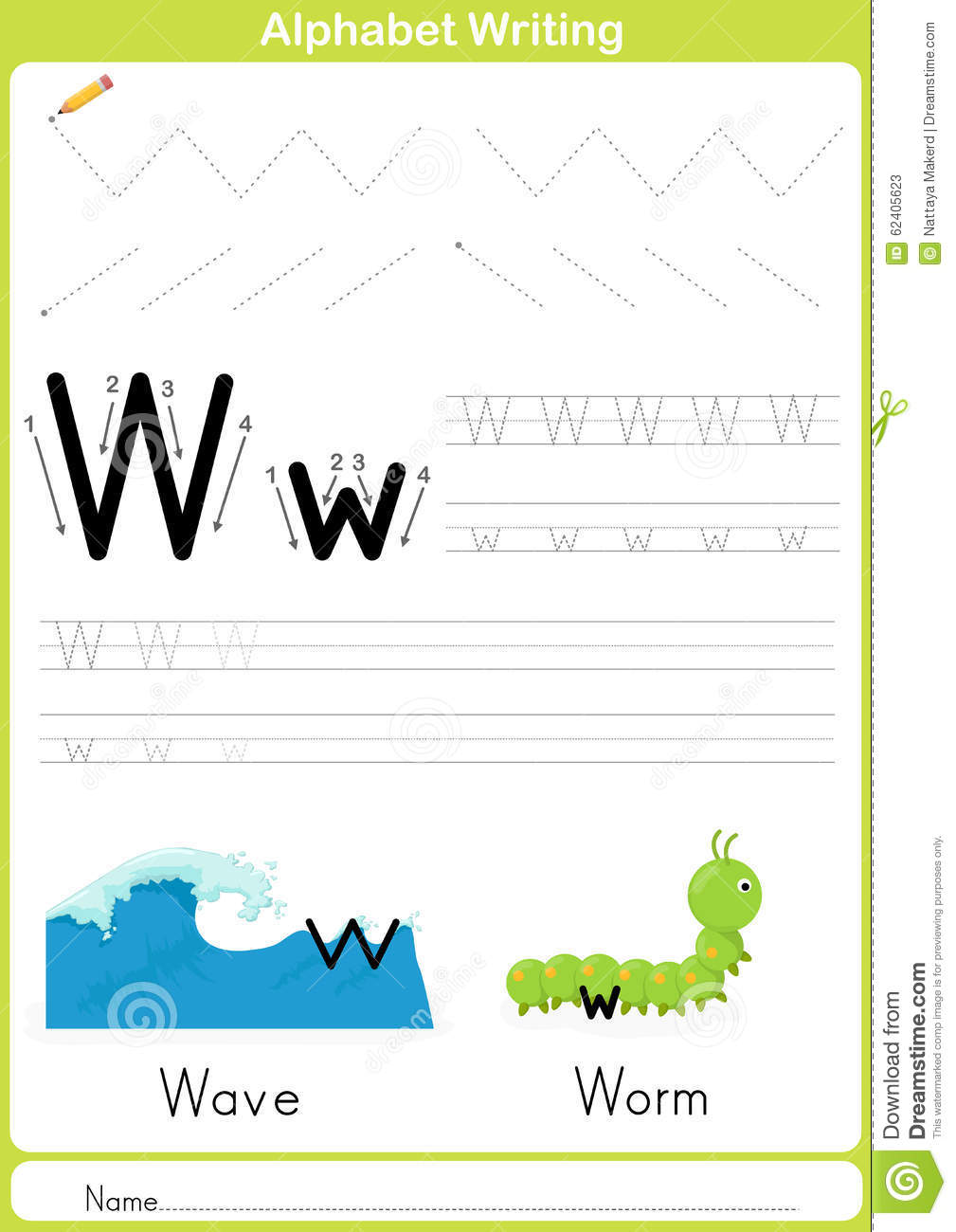 Alphabet A-Z Tracing Worksheet, Exercises For Kids - A4 ...