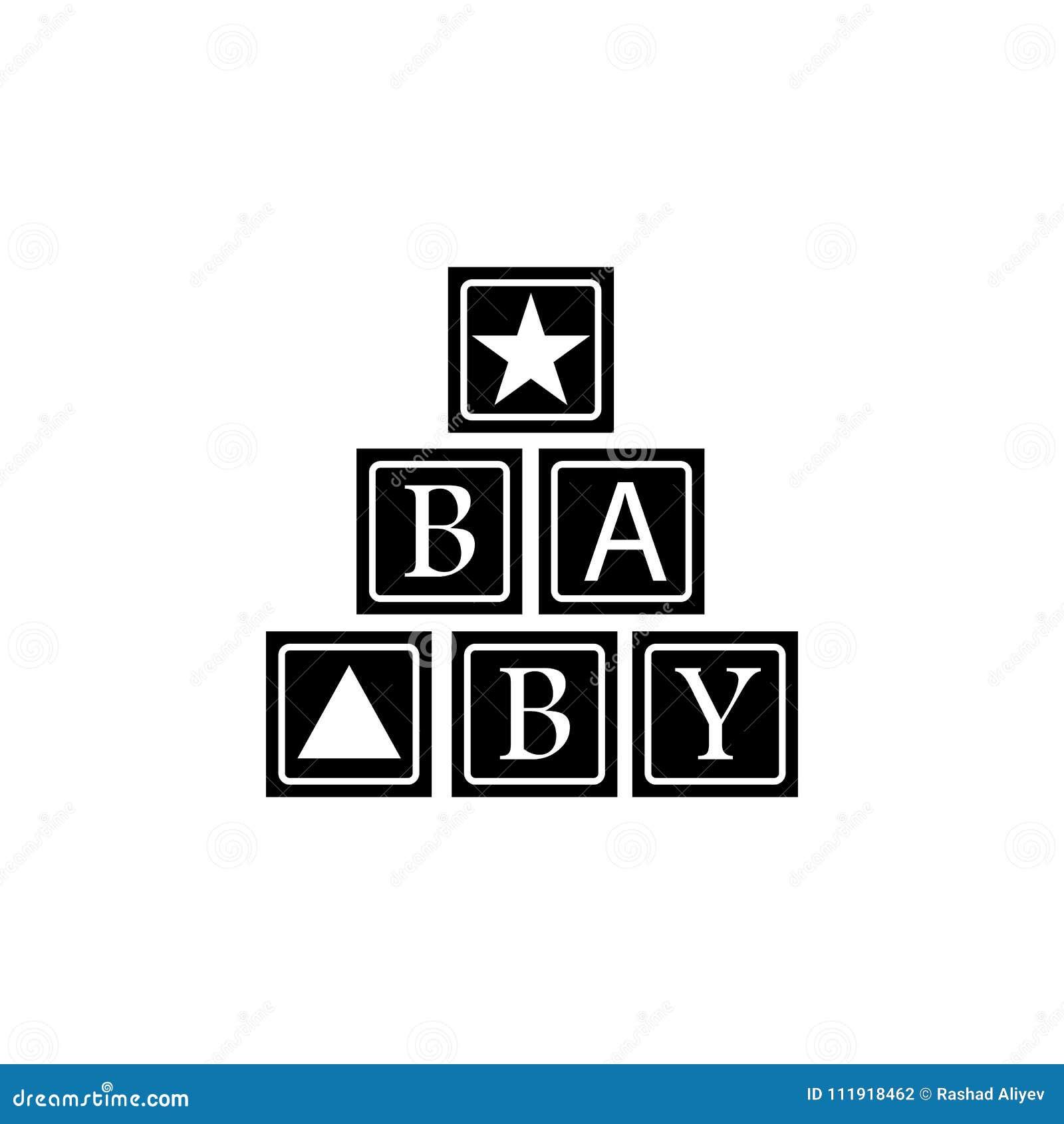 Alphabetic Cubes Icon Element Of Baby Icon Premium Quality Graphic