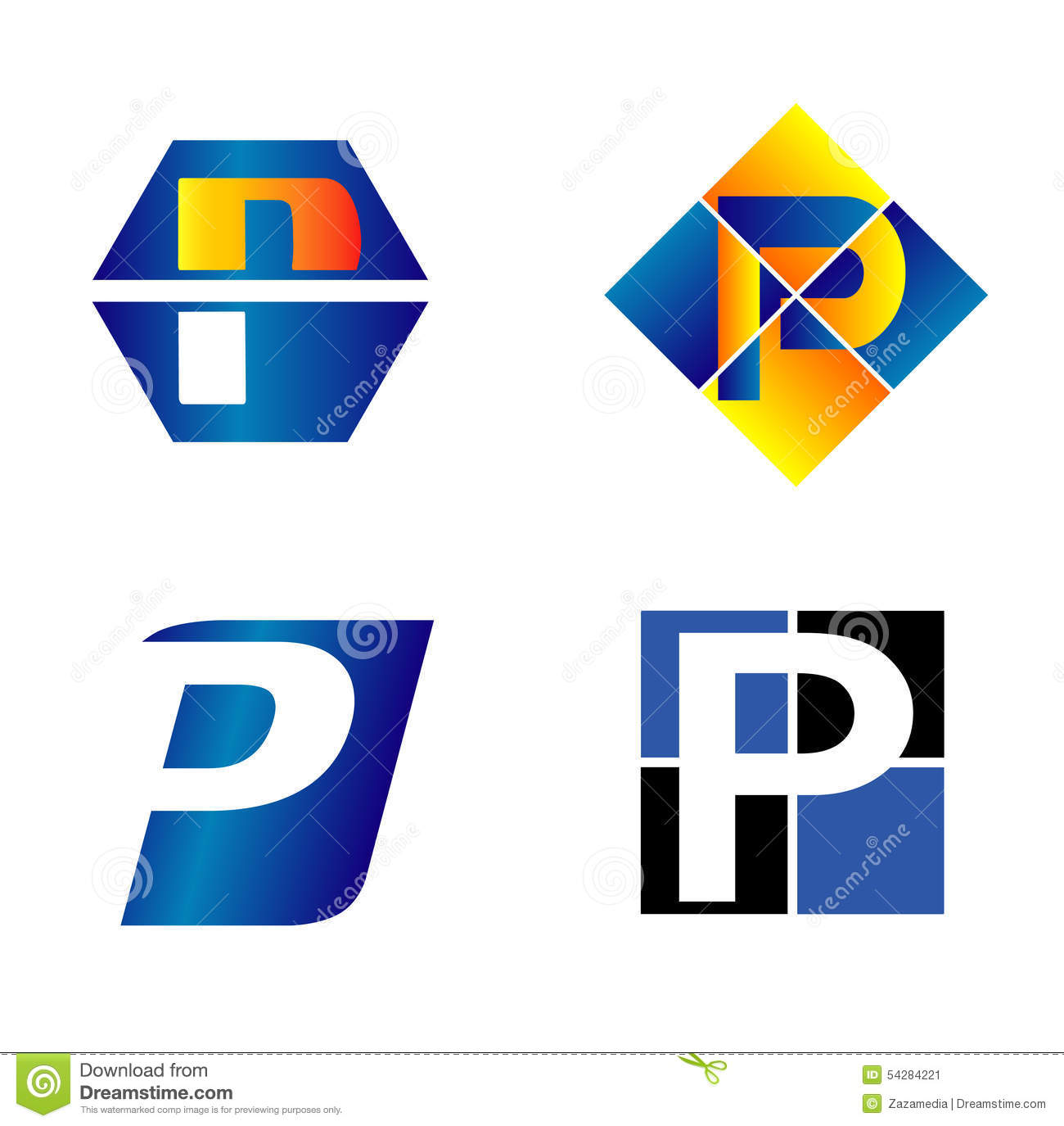 Alphabetical Lo... P Design Logo