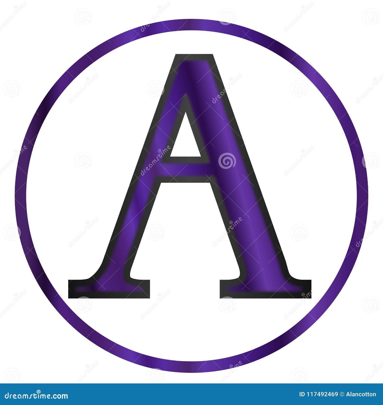 Alpha Greek Letter Stock Vector Illustration Of Maths 117492469