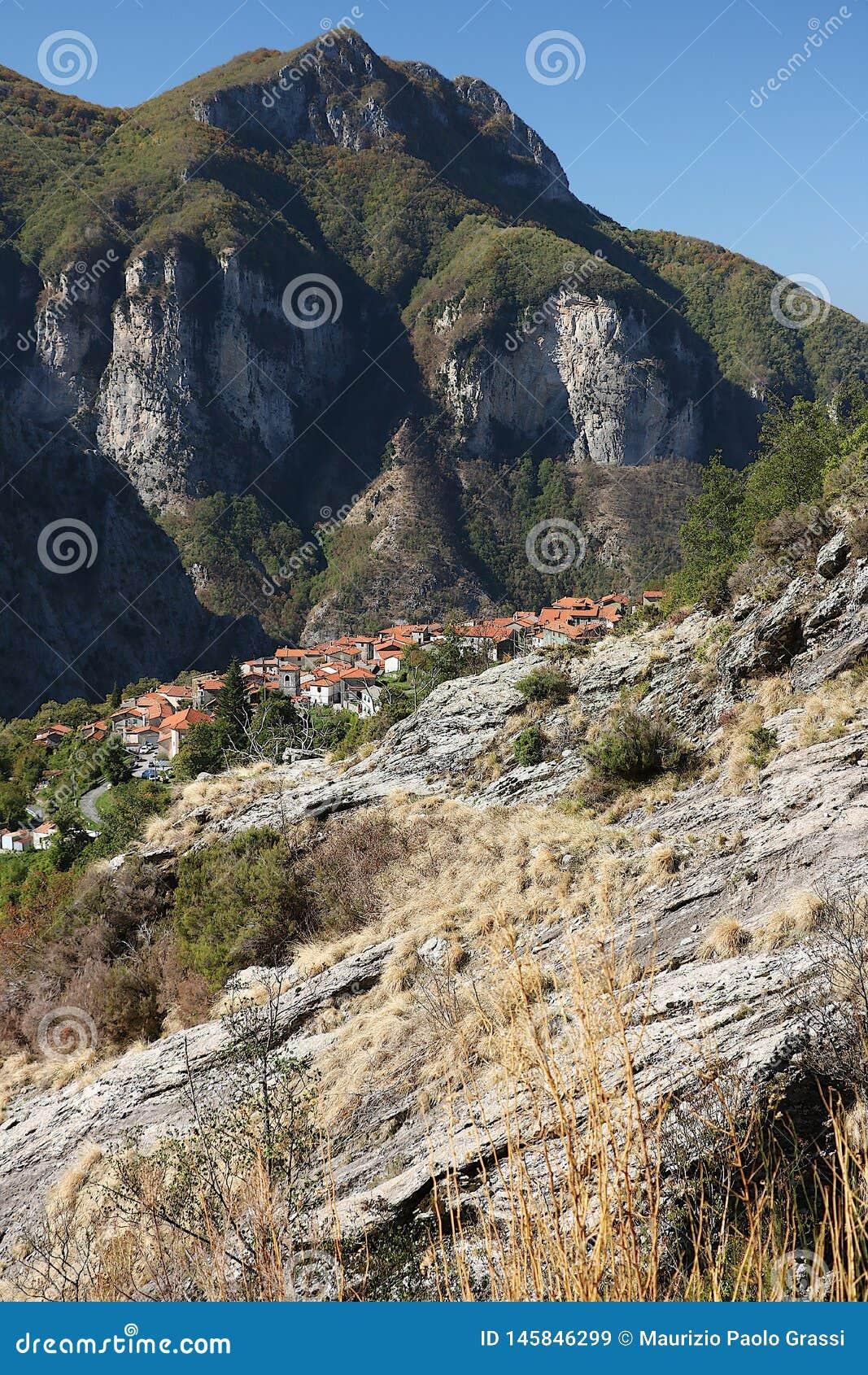 Alpi Apuane, Massa Carrare, Toscane, Italie Vue panoramique de Th