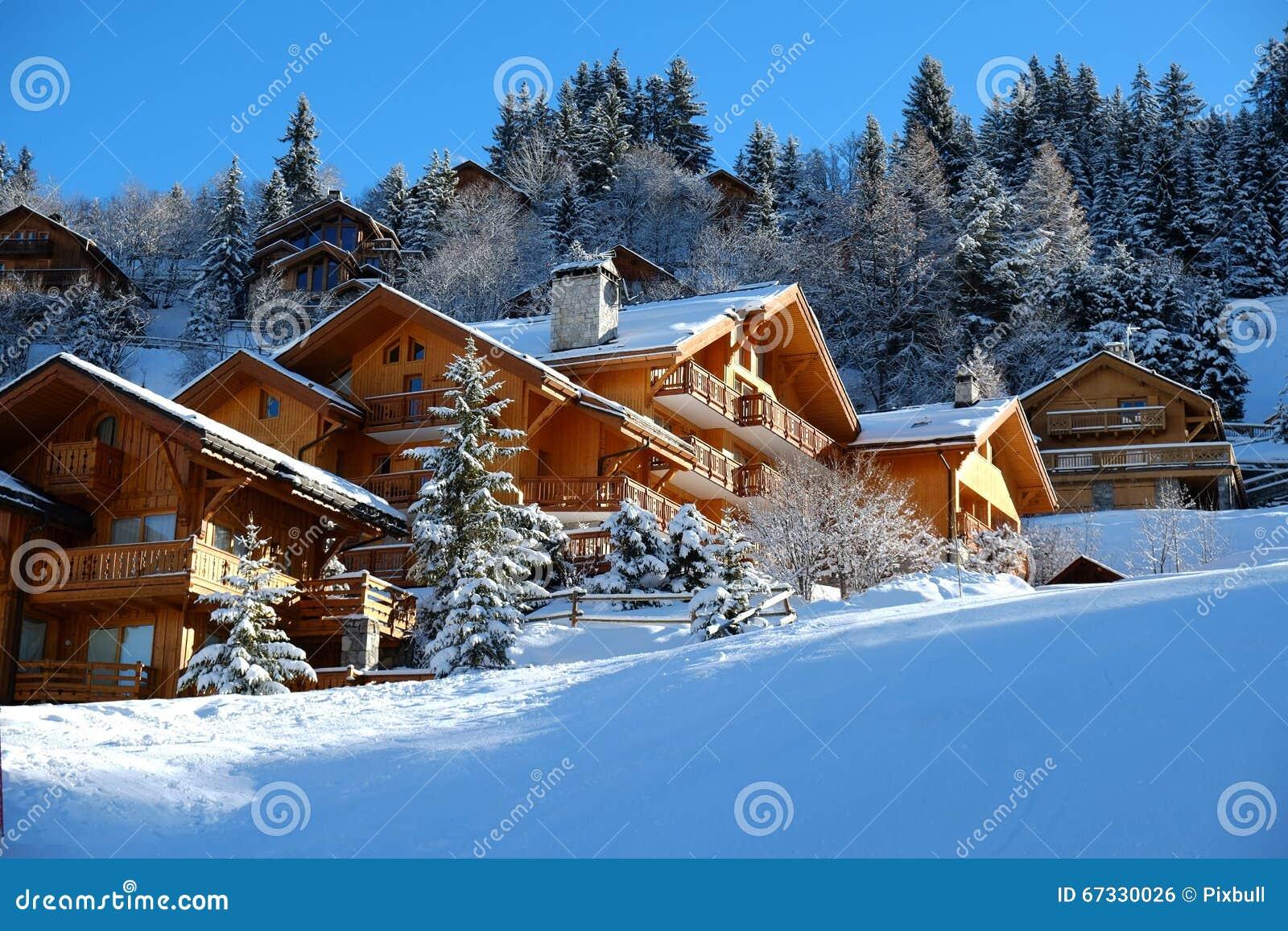 Alpien houten chalet