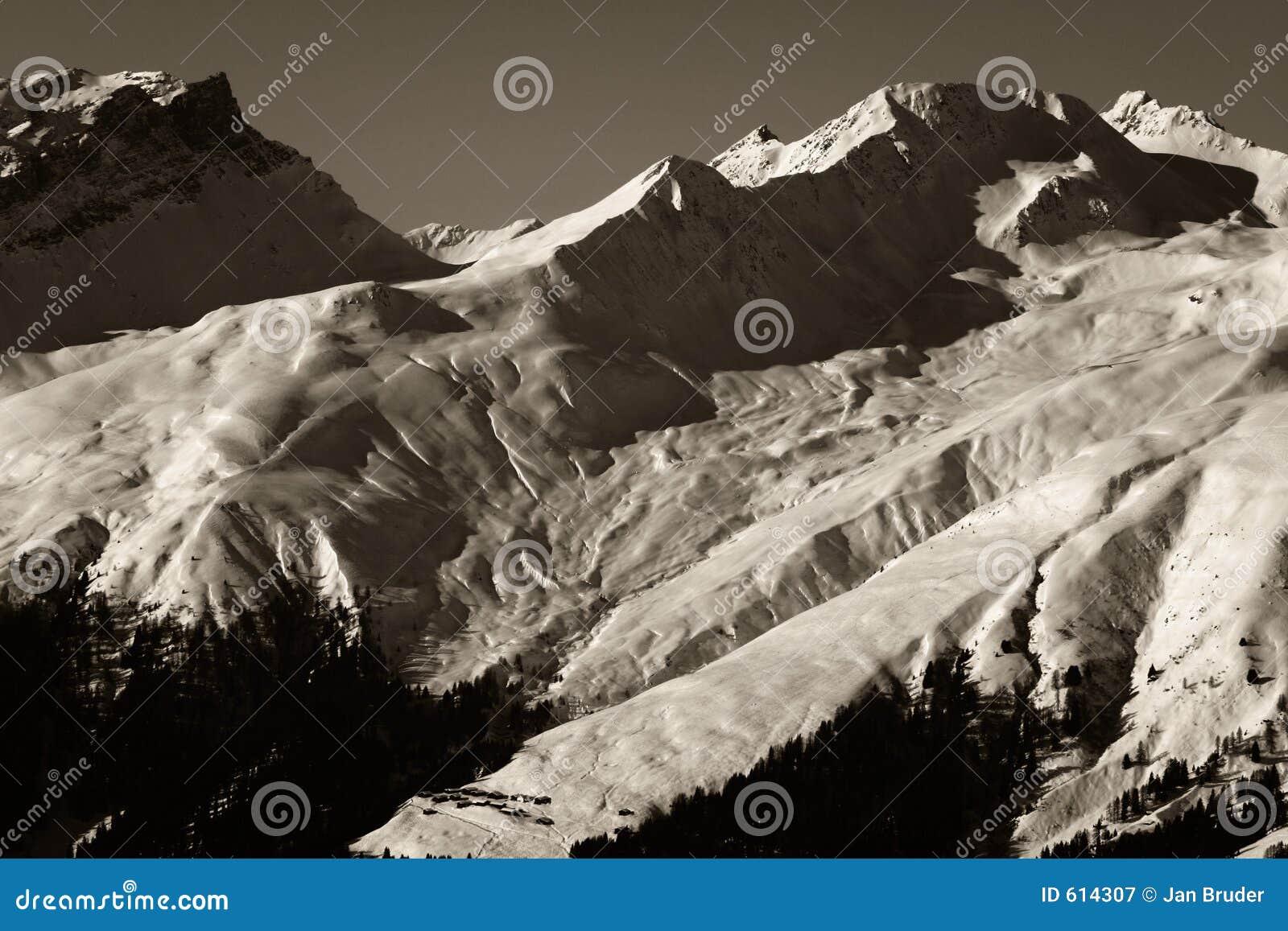 Alpien Uitzicht Wintersport