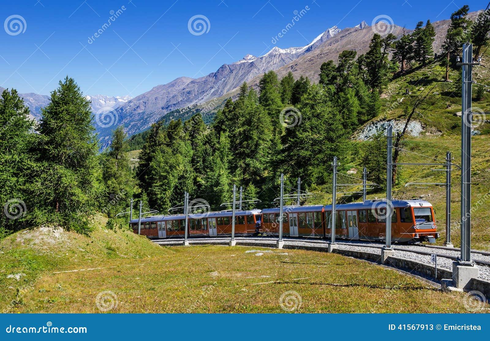 Alpiene trein in Zwitserland, Zermatt