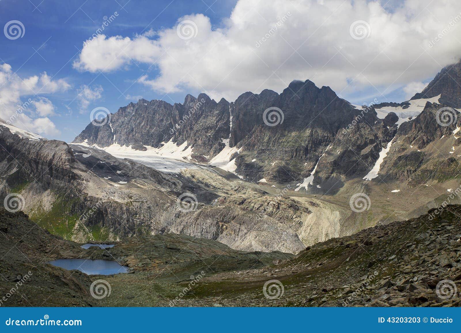Download Alpin panorama fotografering för bildbyråer. Bild av vatten - 43203203