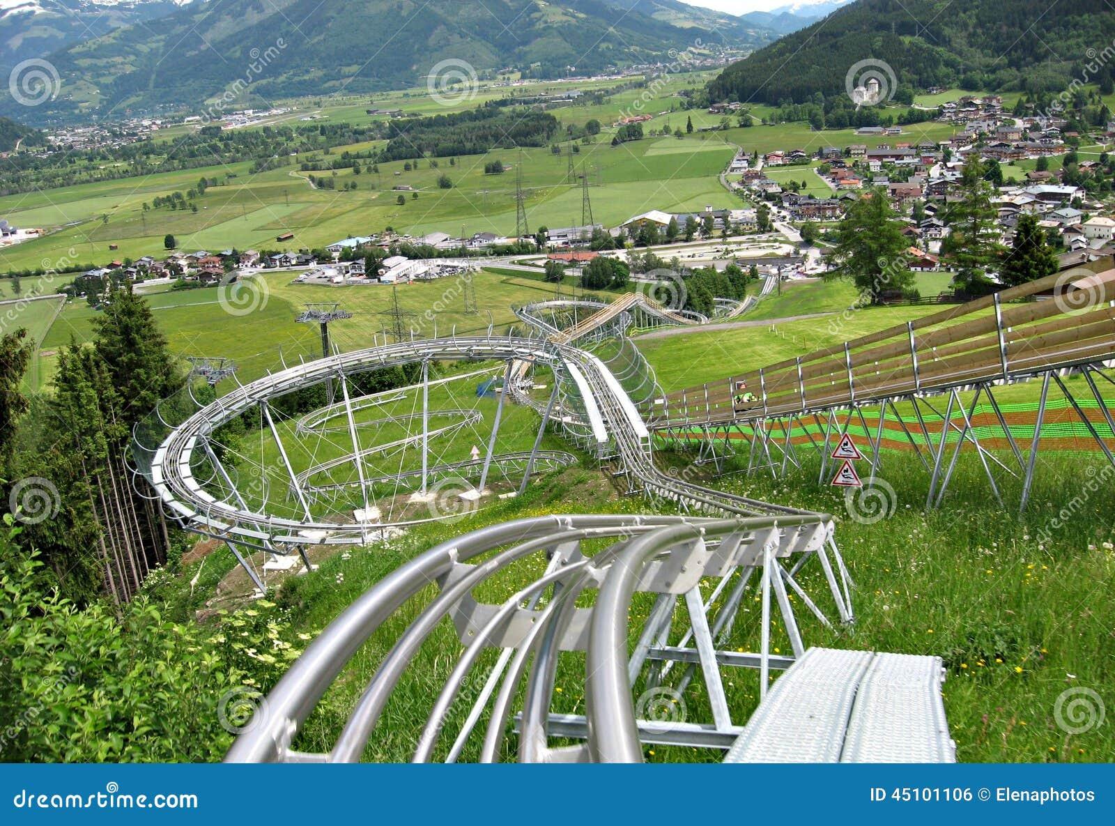Alpine Coaster In Kaprun Stock Photo Image 45101106