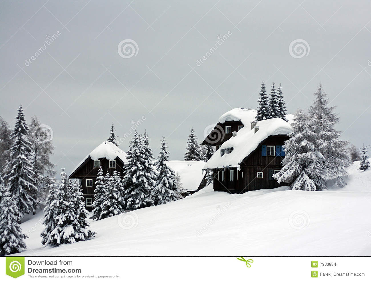Alpine cottages