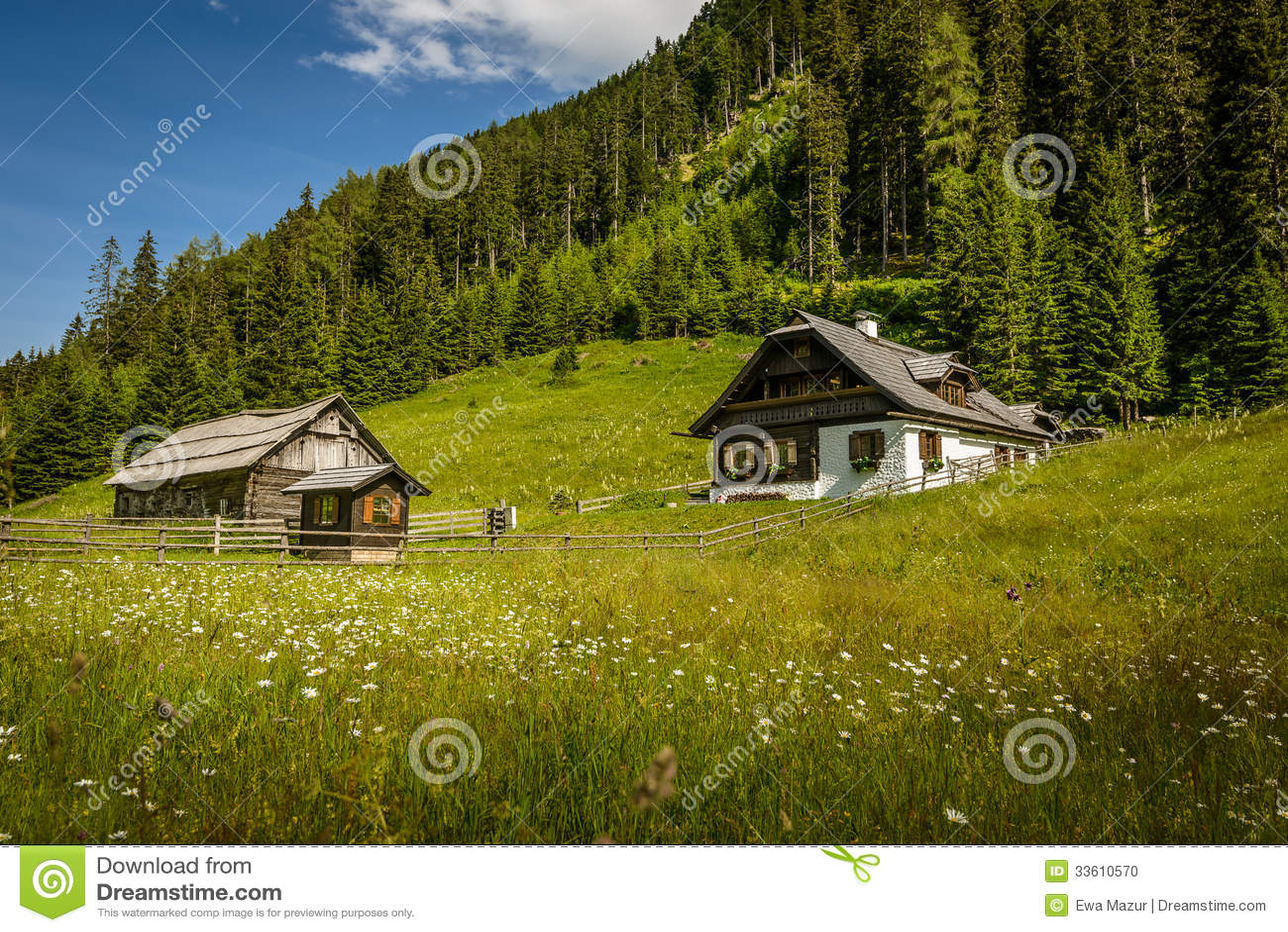 Alpine House Stock Photo Image 33610570