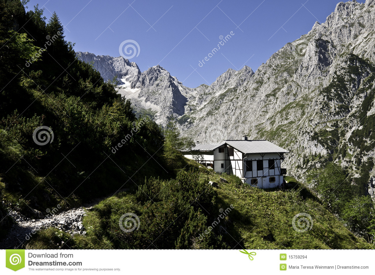 alpine hut stock images image 15759294