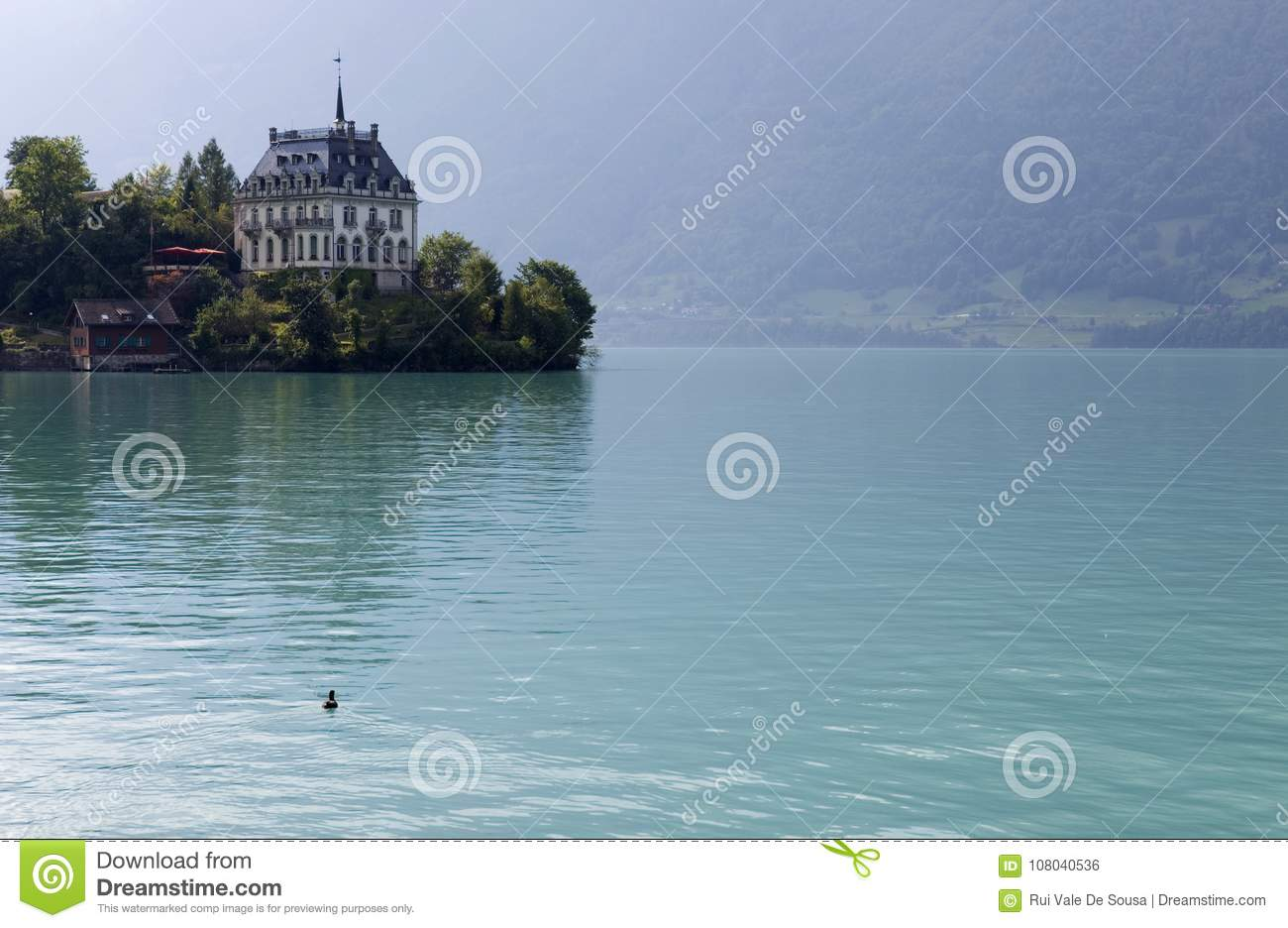 Iseltwald stock photo  Image of interlaken, lake, seeburg