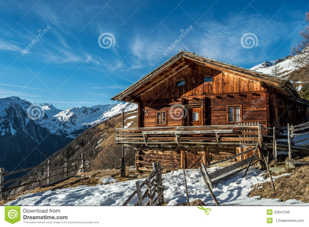 Alpine lodge in austria stock photo image 52847346 for The alpine lodge