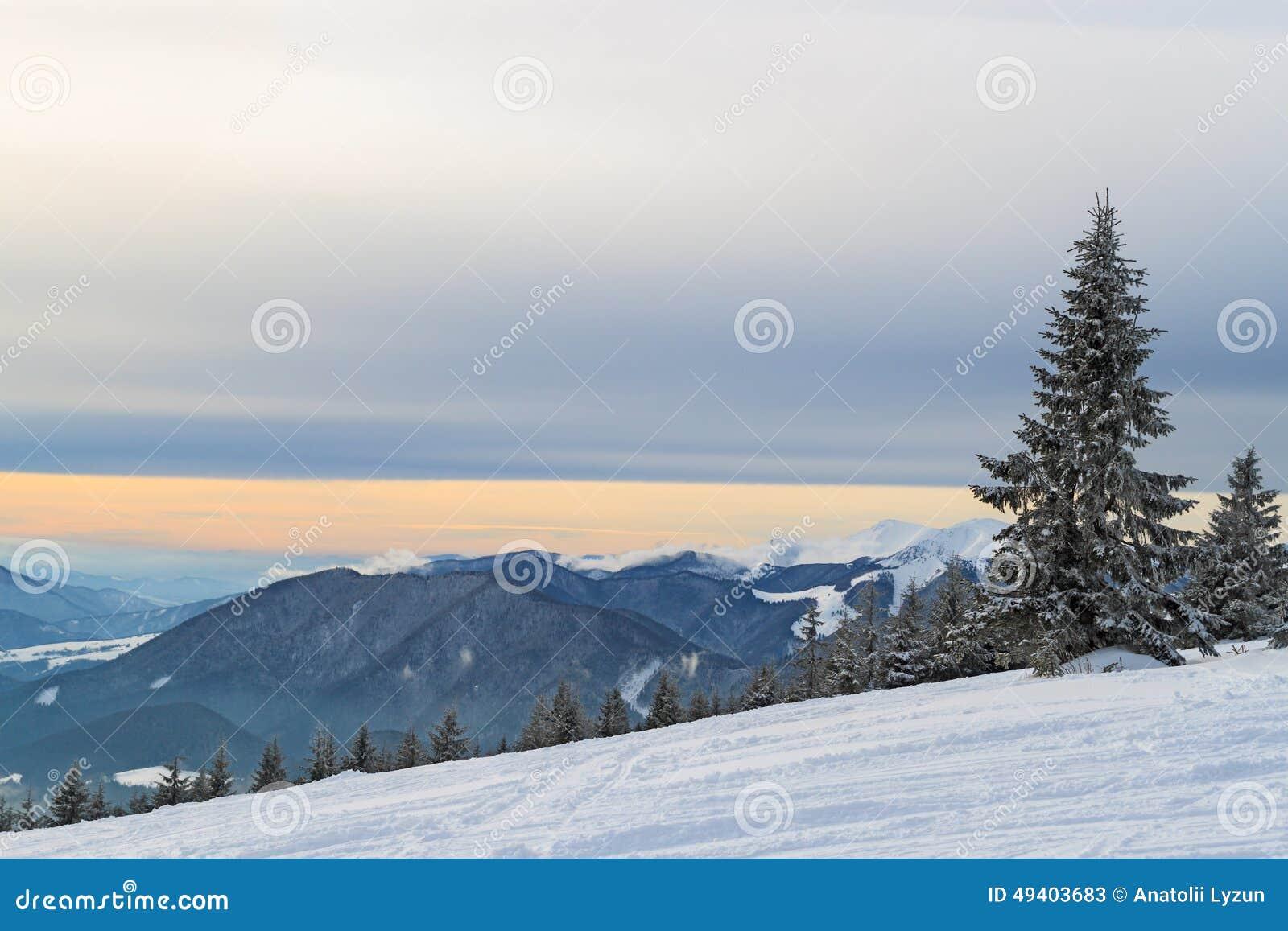 Download Alpiner Sonnenuntergang 5 stockbild. Bild von schneebedeckt - 49403683
