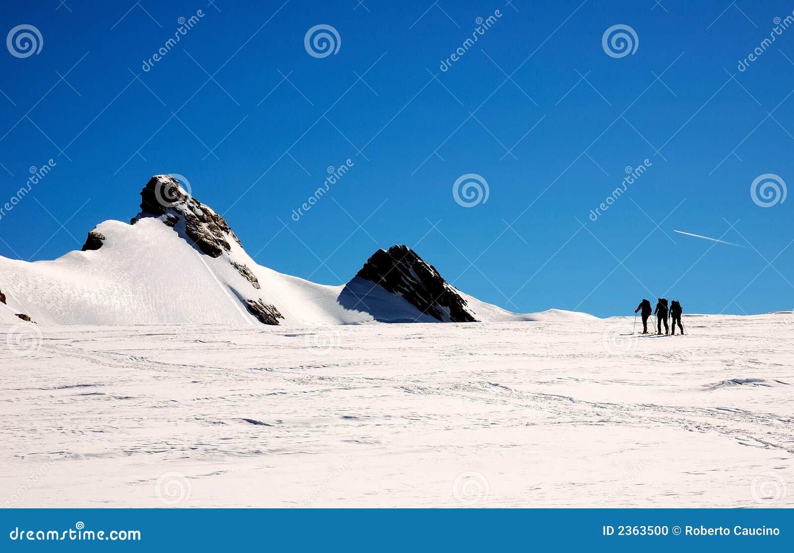 Alpinistes de groupe