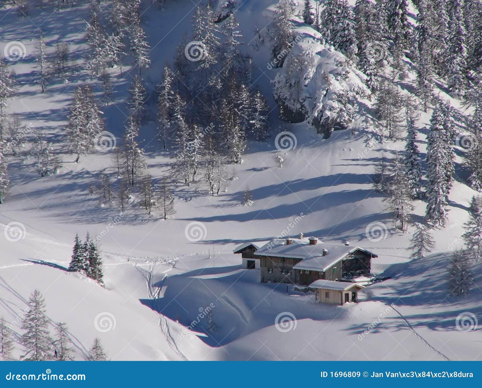 Alps chalet - winter Alps
