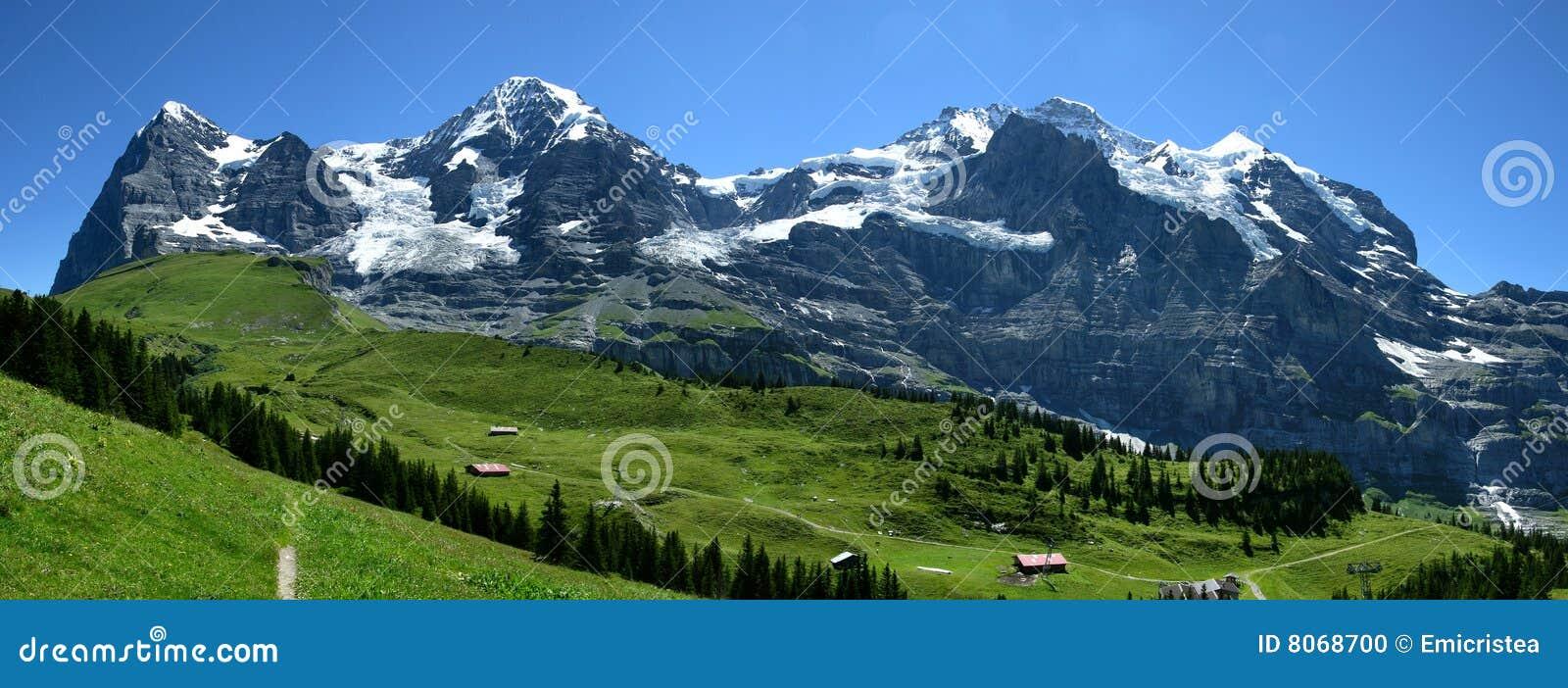 Alps oberland bernese krajobrazowy Switzerland