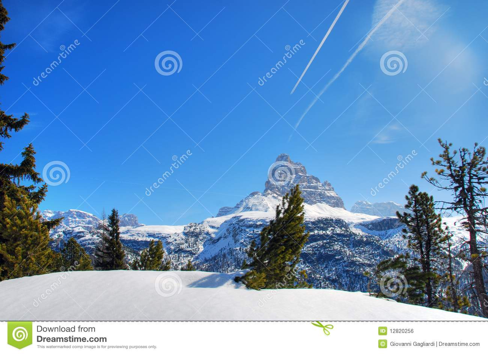 Alps Winter, Dolomites, Italy, 2007 Royalty Free Stock Image - Image: 12820256