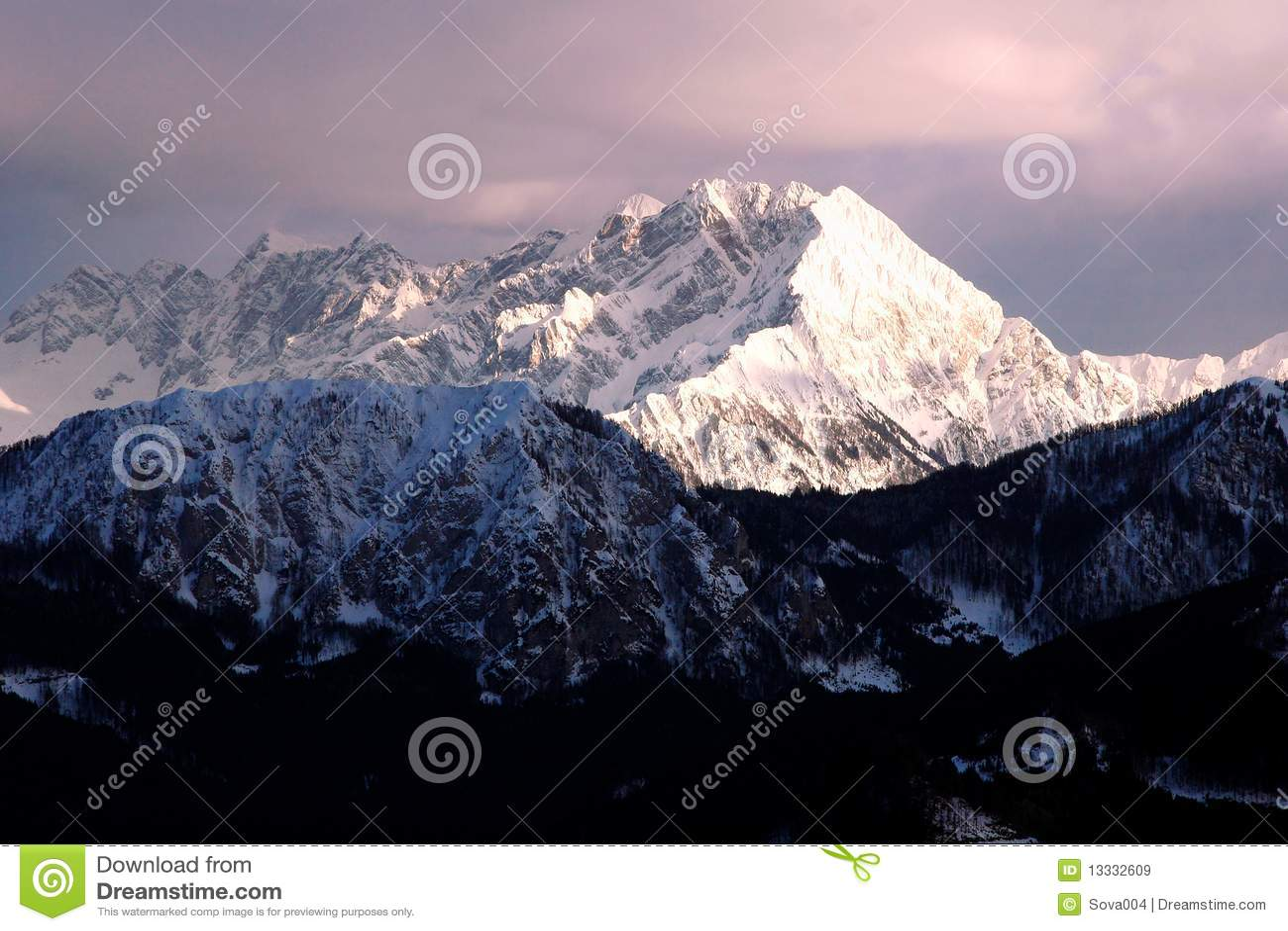 Alps zmierzchu szwajcar