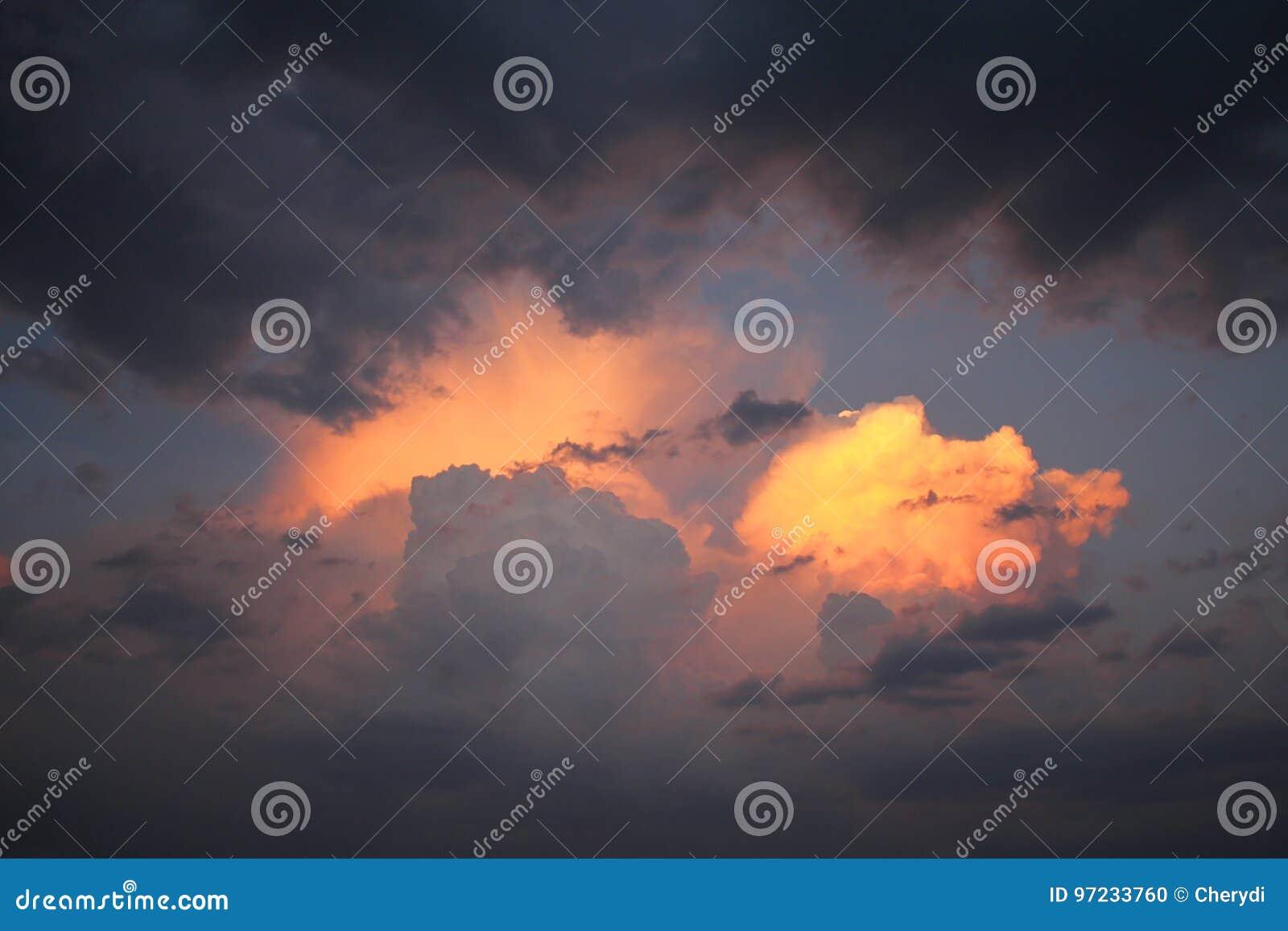 Als brand in de hemel