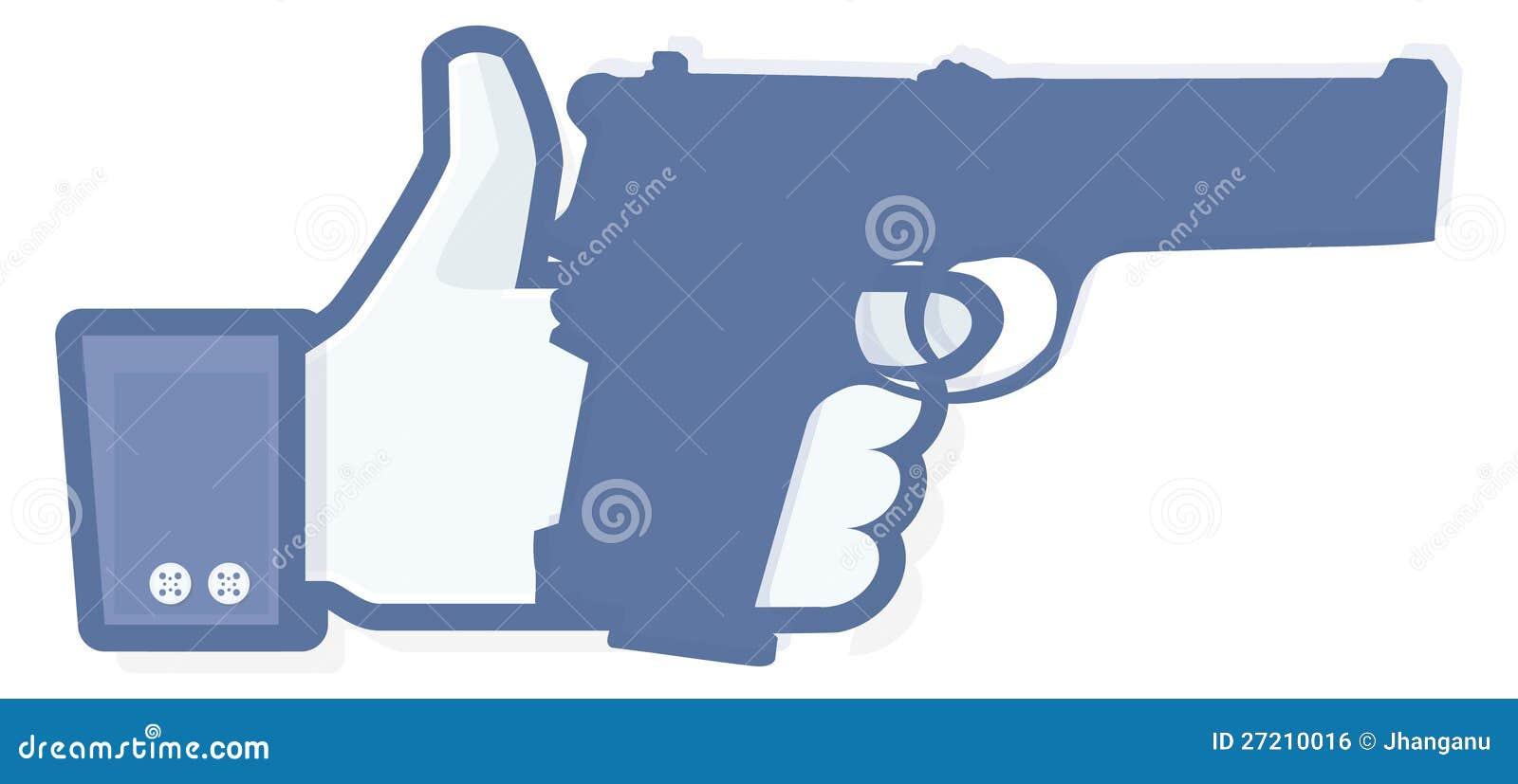 Als duim met revolver