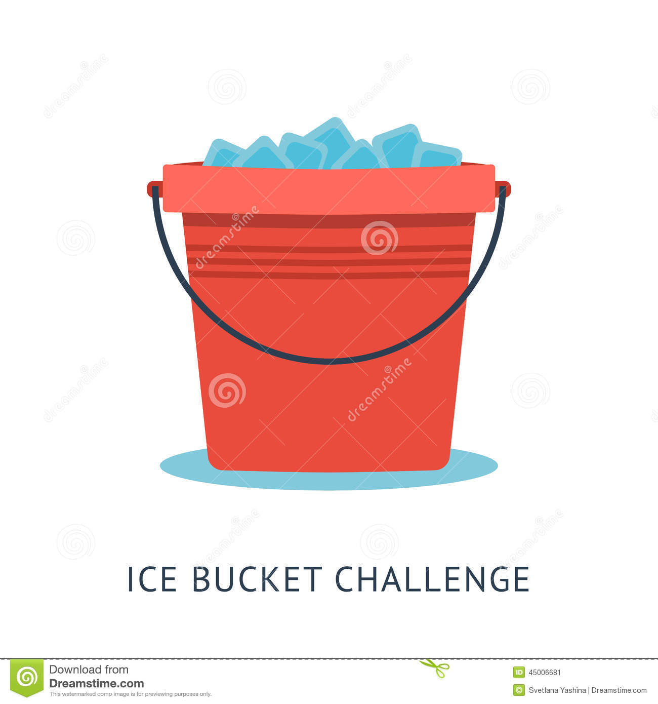 Als Ice Bucket Challenge Stock Vector Illustration Of