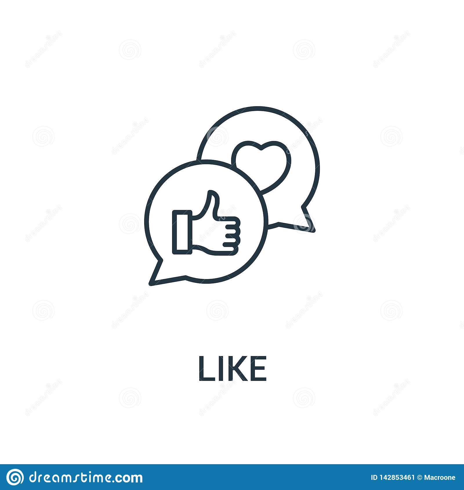 Als pictogramvector van advertentiesinzameling Dunne lijn zoals de vectorillustratie van het overzichtspictogram Lineair symbool