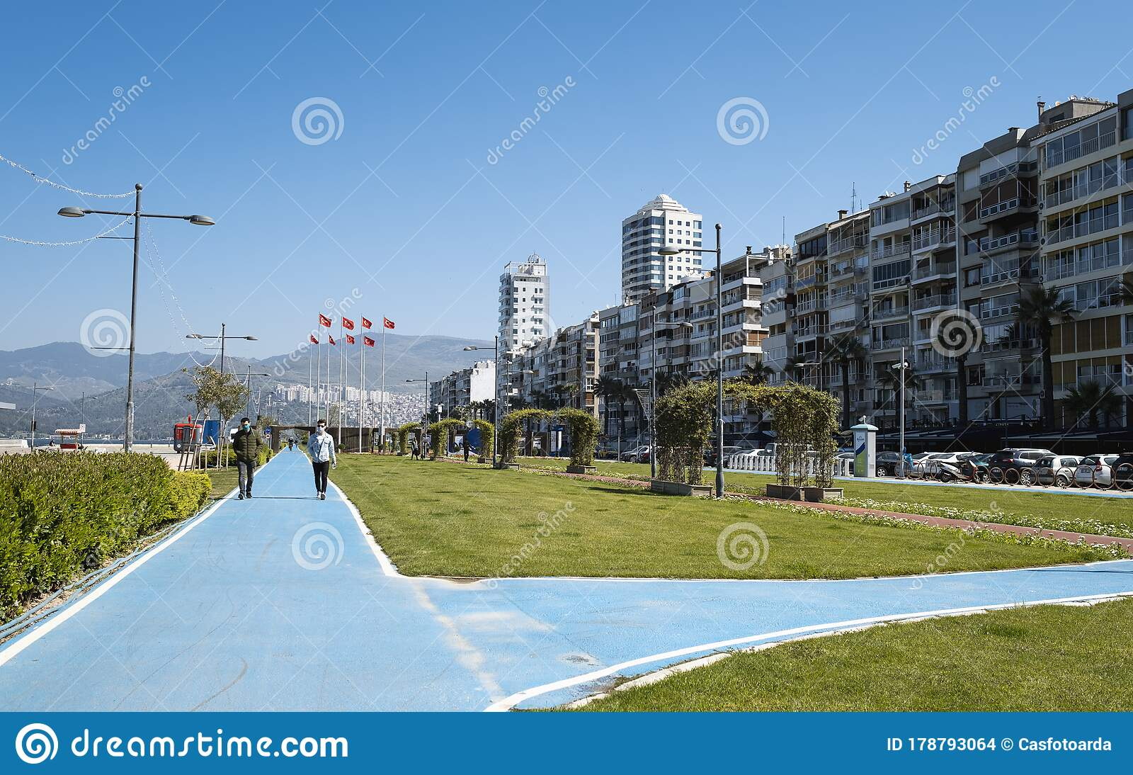 Alsancak Kordon Is Empty Streets Because Of Coronavirus Pandemi People Of Is Izmir Is Staying Home Editorial Stock Image Image Of Architecture 2020 178793064