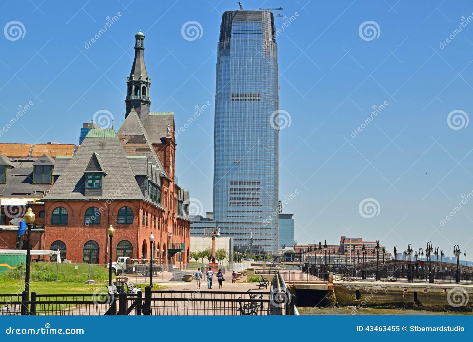 Alt und Neubau nahe gelegener Liberty State Park Jersey City