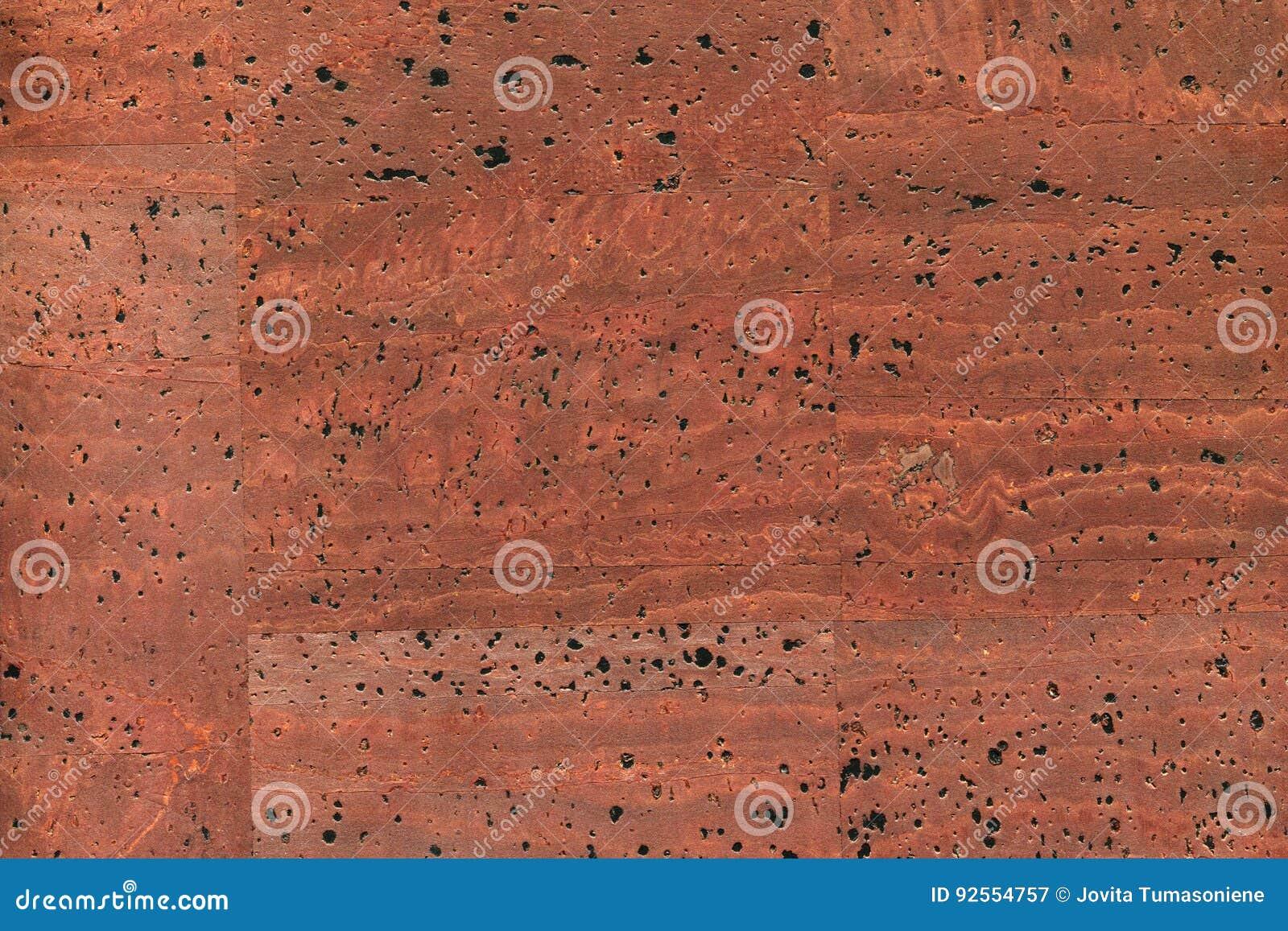 Alta struttura dettagliata del bordo del sughero, fine su