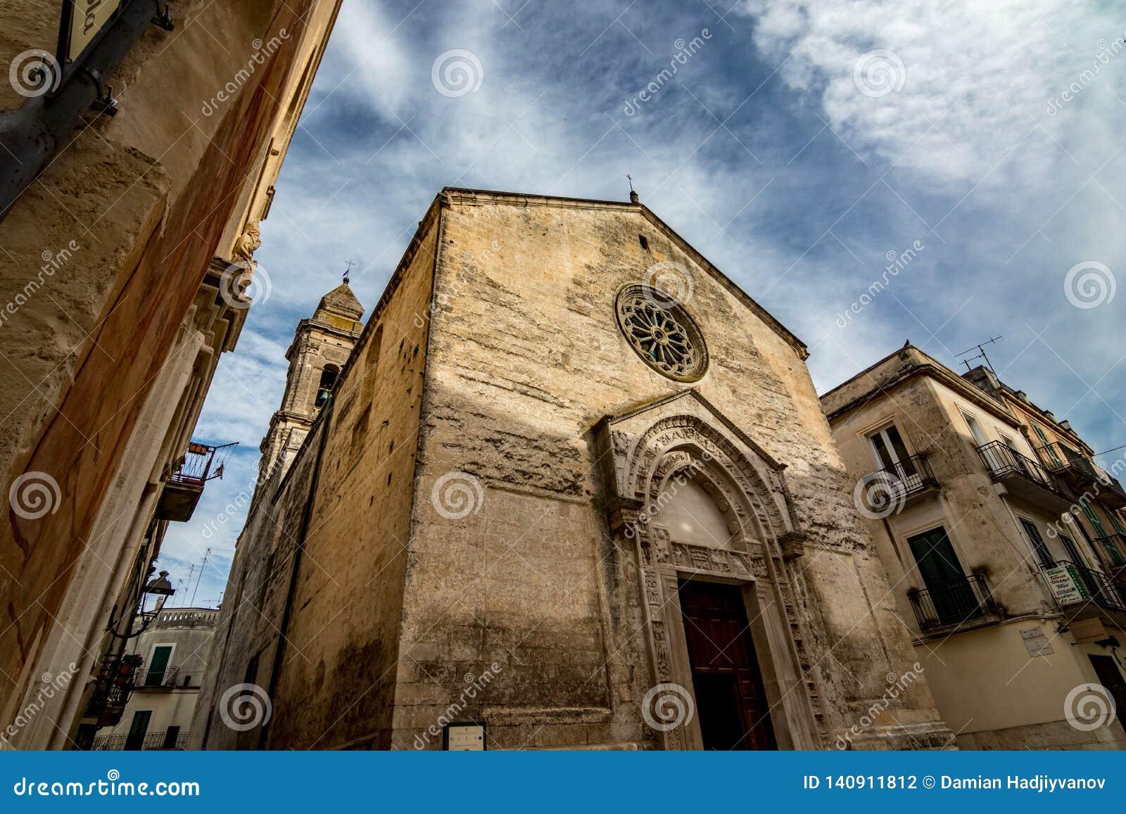 Stunning Italian church in cloudy summer day
