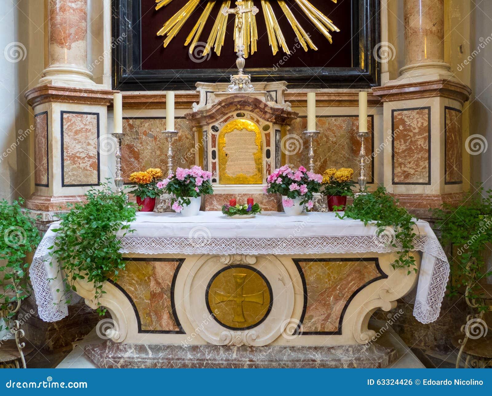 Catholic Church Interior Altar