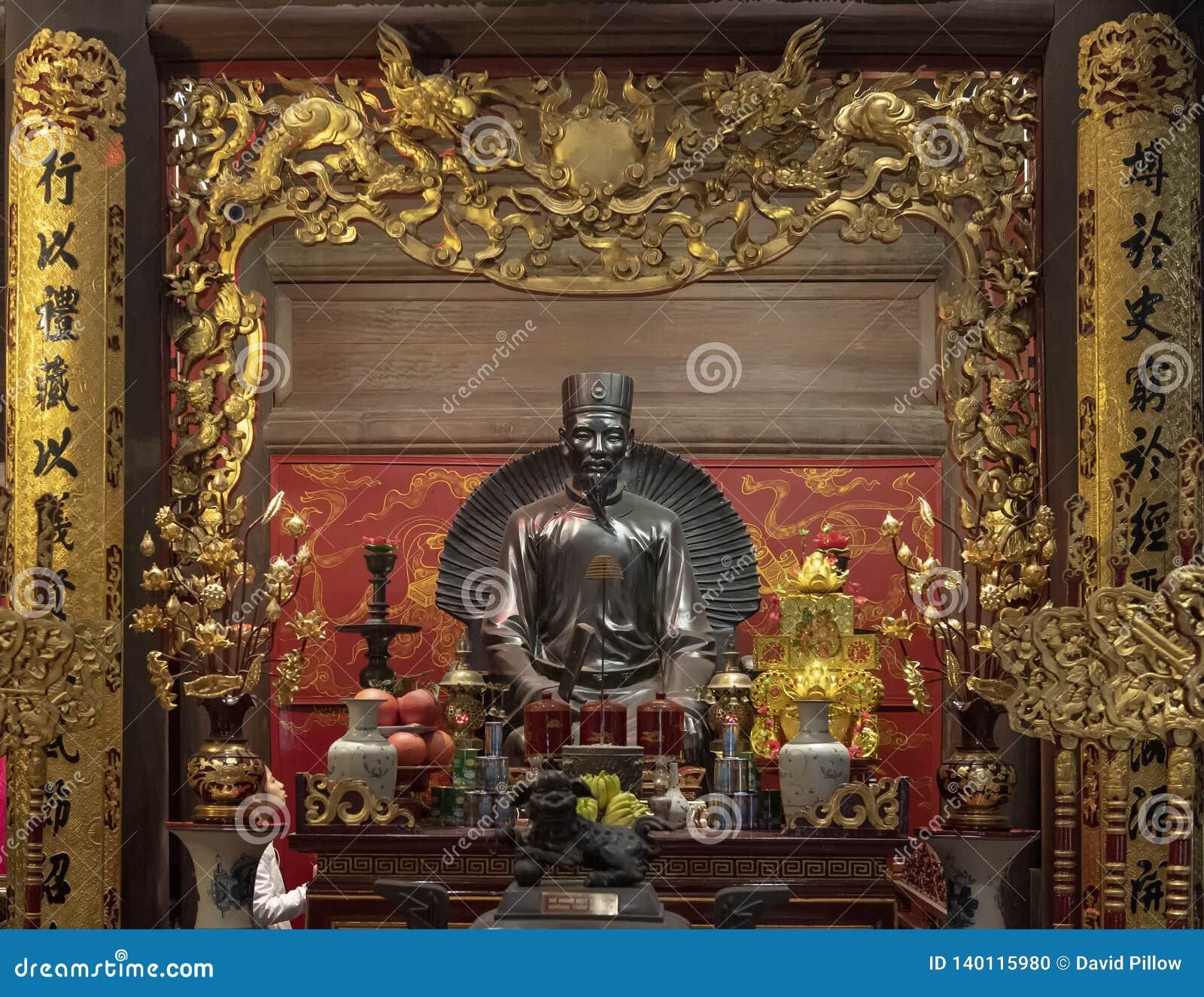 Altar a Chu Văn, rector de la academia imperial