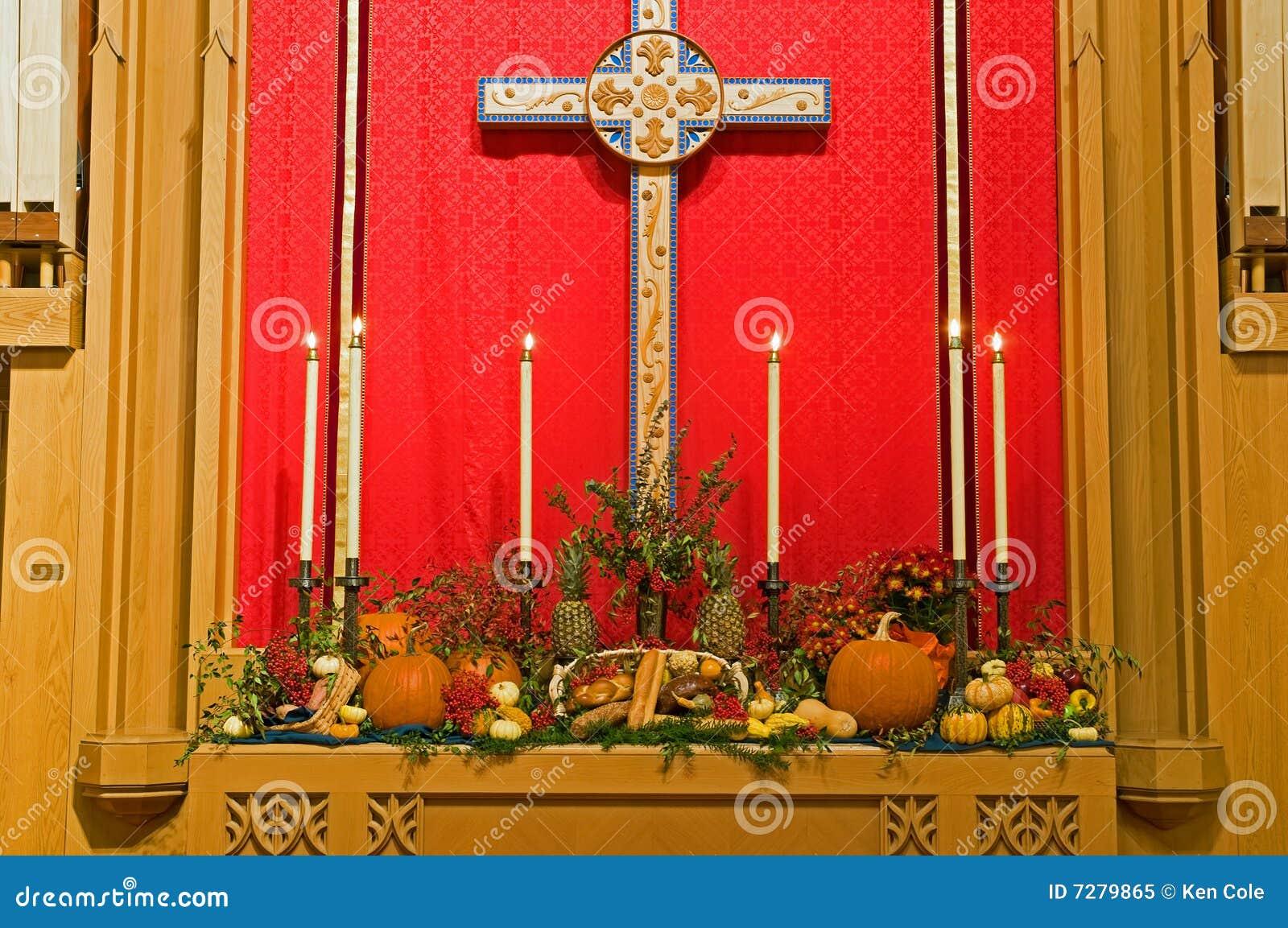 Altar de la iglesia de la acción de gracias