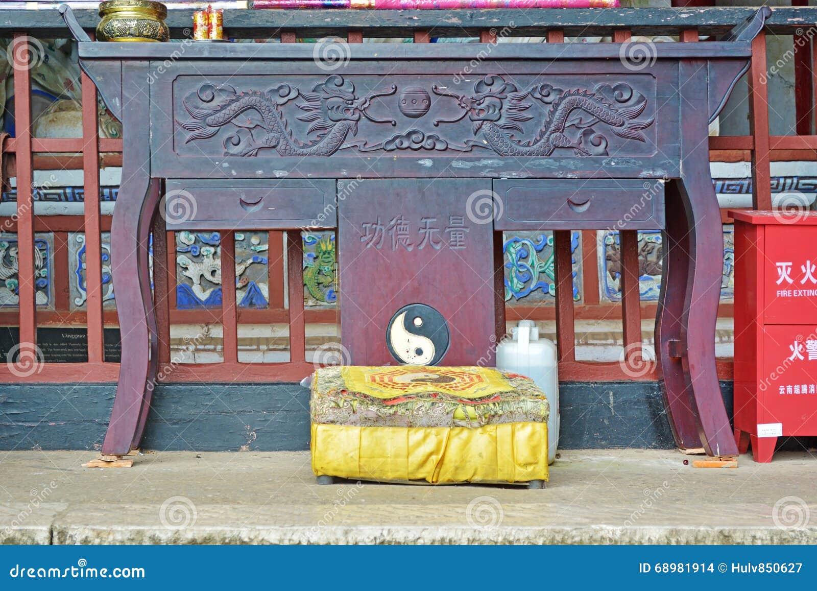 Altar en un templo del Taoist