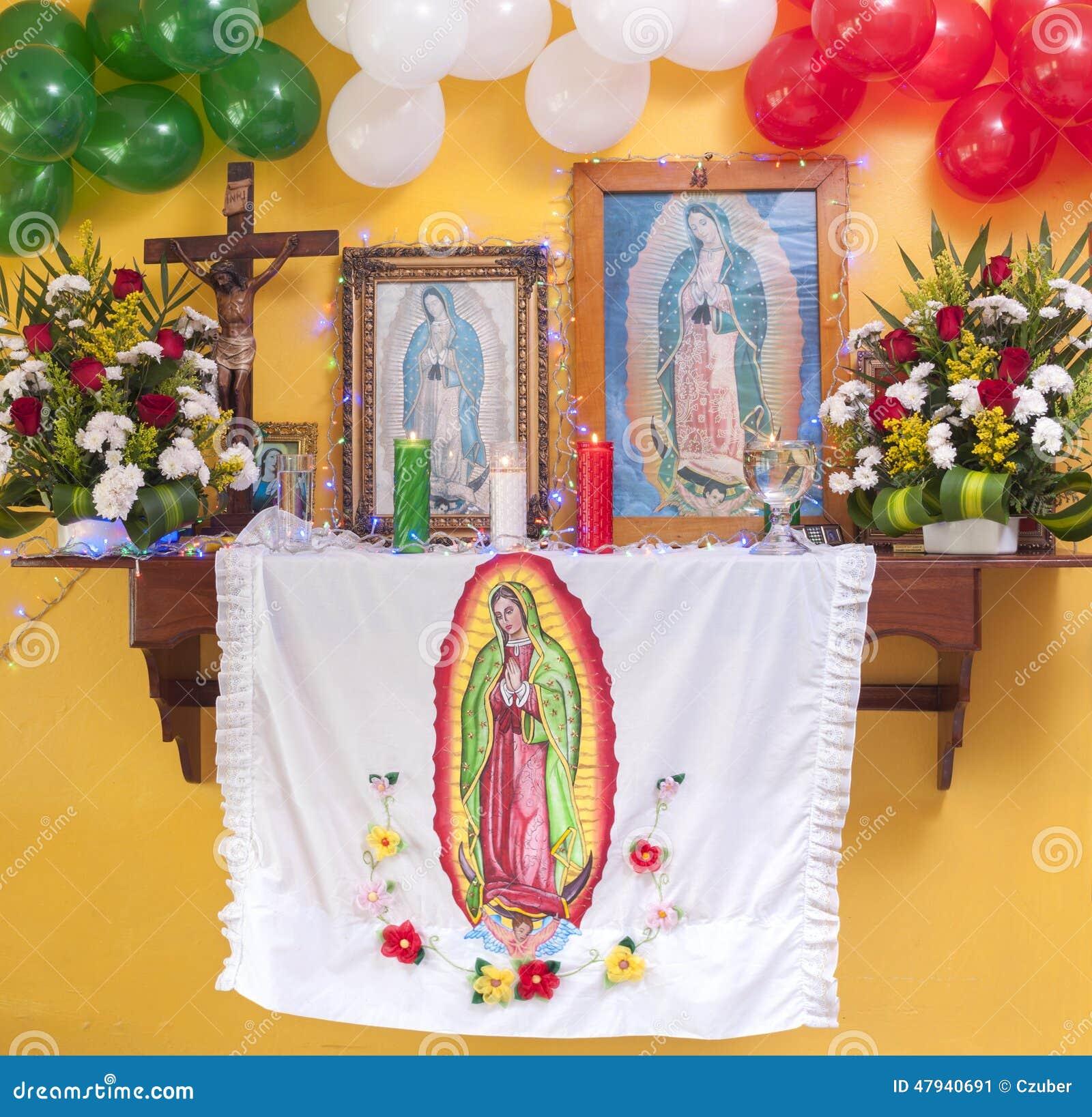 Decoracion Altar Para La Virgen ~   de la bandera mexicana para conmemorar la aparici?n de nuestra