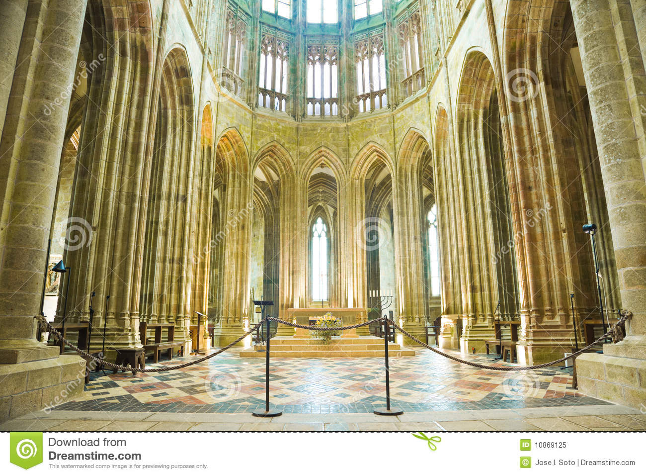 Download Altar From Mont St. Michel Abbey Stock Image - Image of religion, altar: 10869125