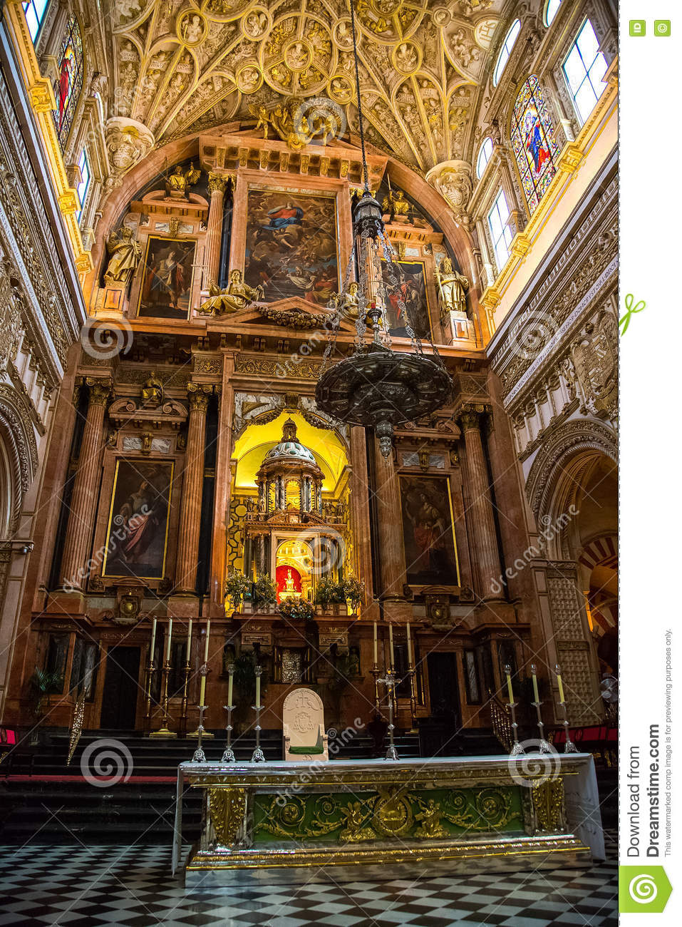 Download Altar stock image. Image of cathedral, decorative, spain - 79009673
