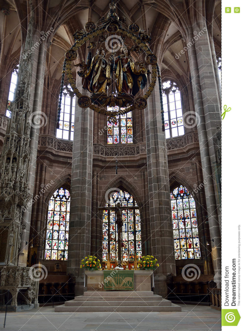 altar of st lorenz church nuremberg germany stock photo image 78999937. Black Bedroom Furniture Sets. Home Design Ideas
