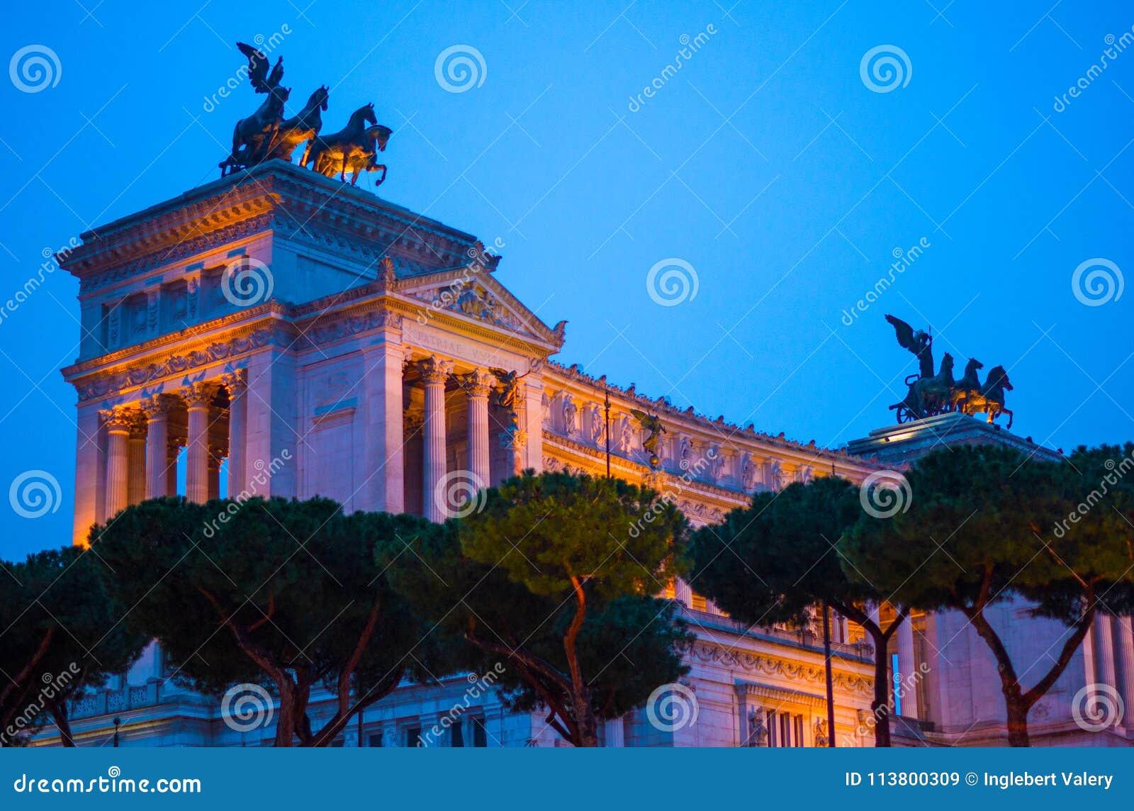 Altare Della Patria, monument till Vittorio Emanuele II, Rome, Ita