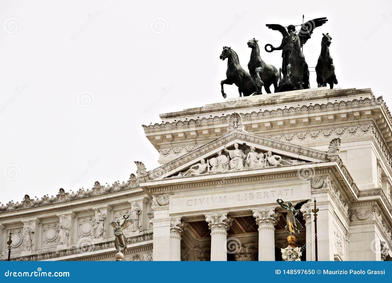 Altare della patria o del Vittoriano in piazza Venezia a Roma