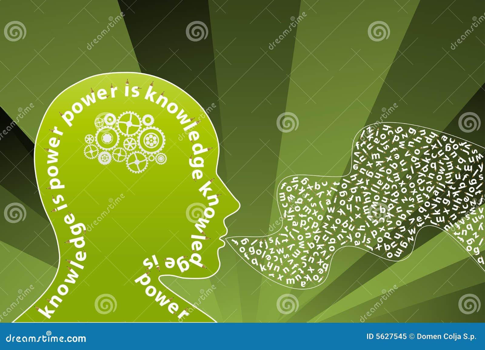 Altavoz creativo de la mente del conocimiento
