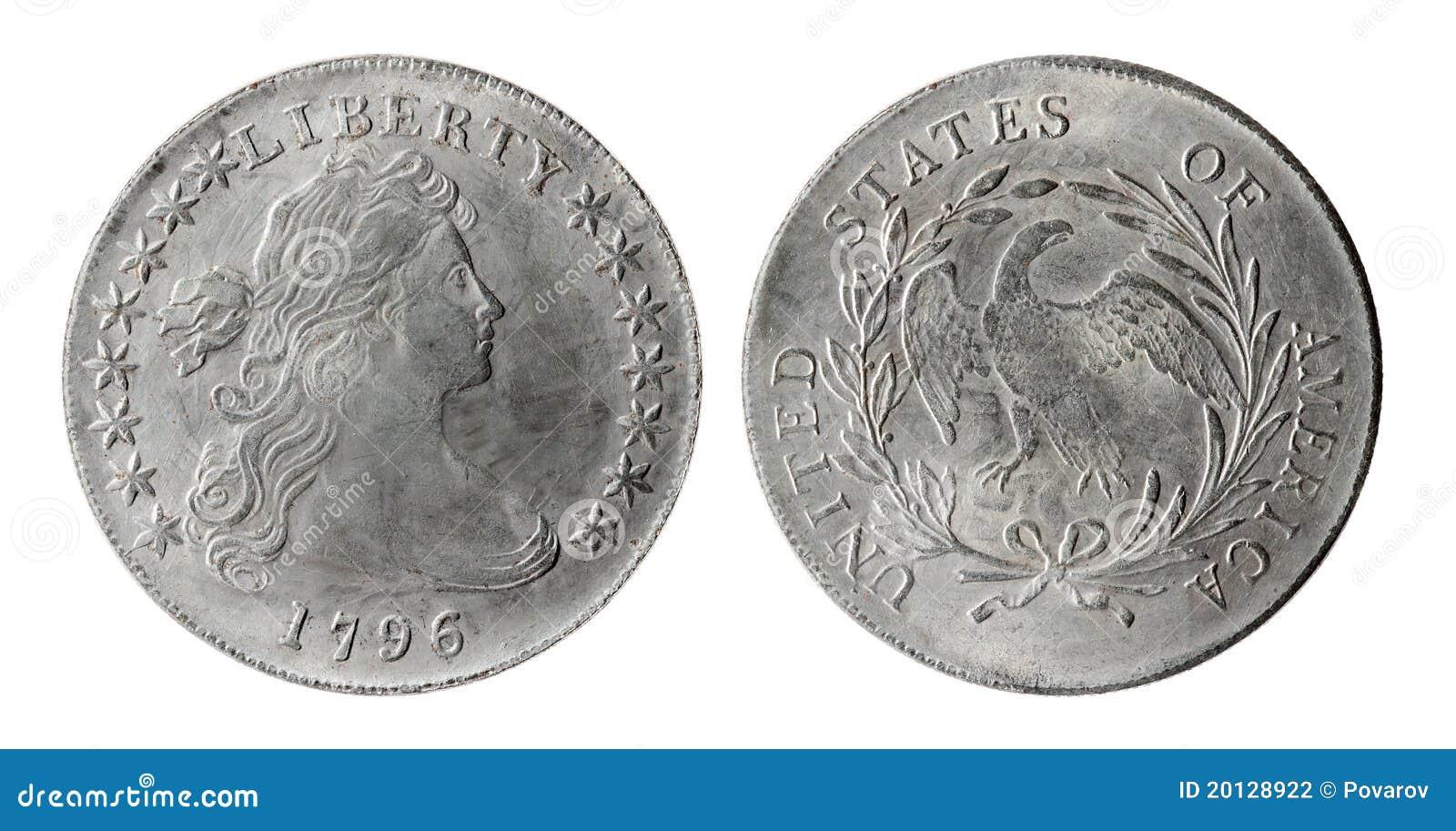 Alte Amerikanische Münze Stockfoto Bild Von Sonderkommando 20128922