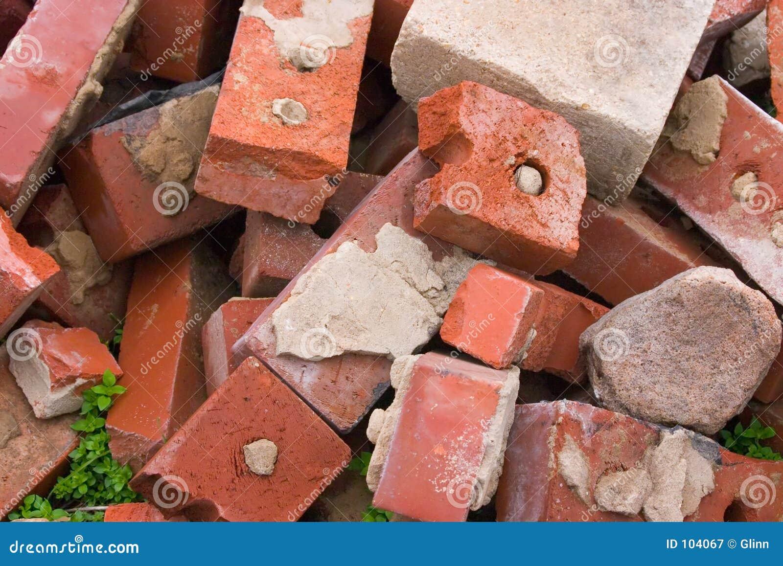 Alte benutzte Ziegelsteine