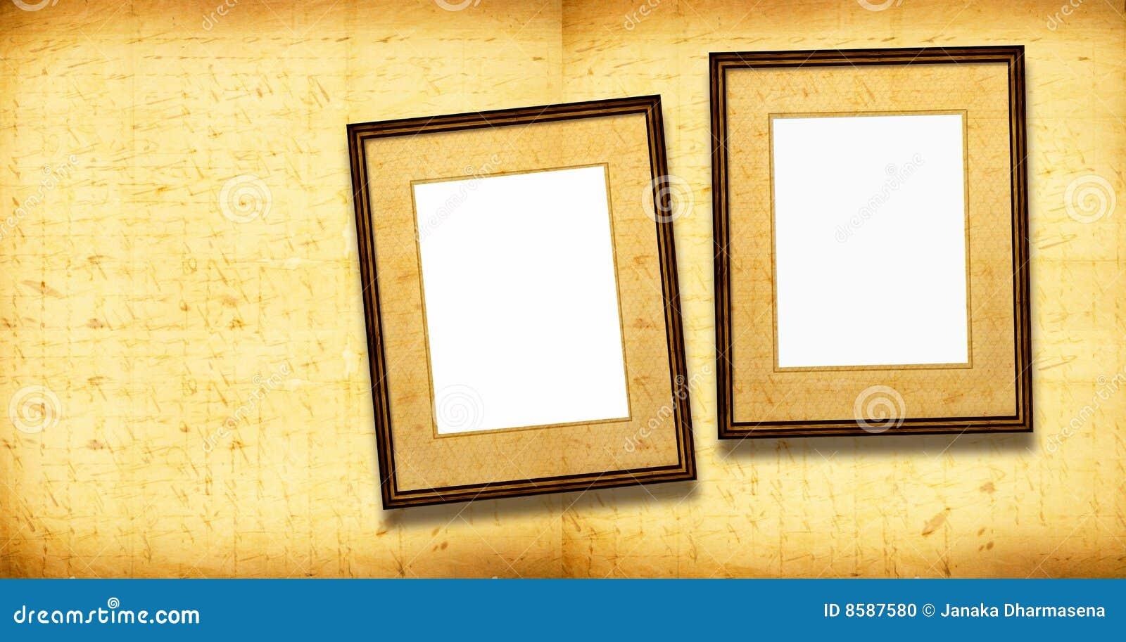 Alte Bilderrahmen stock abbildung. Illustration von grunge - 8587580