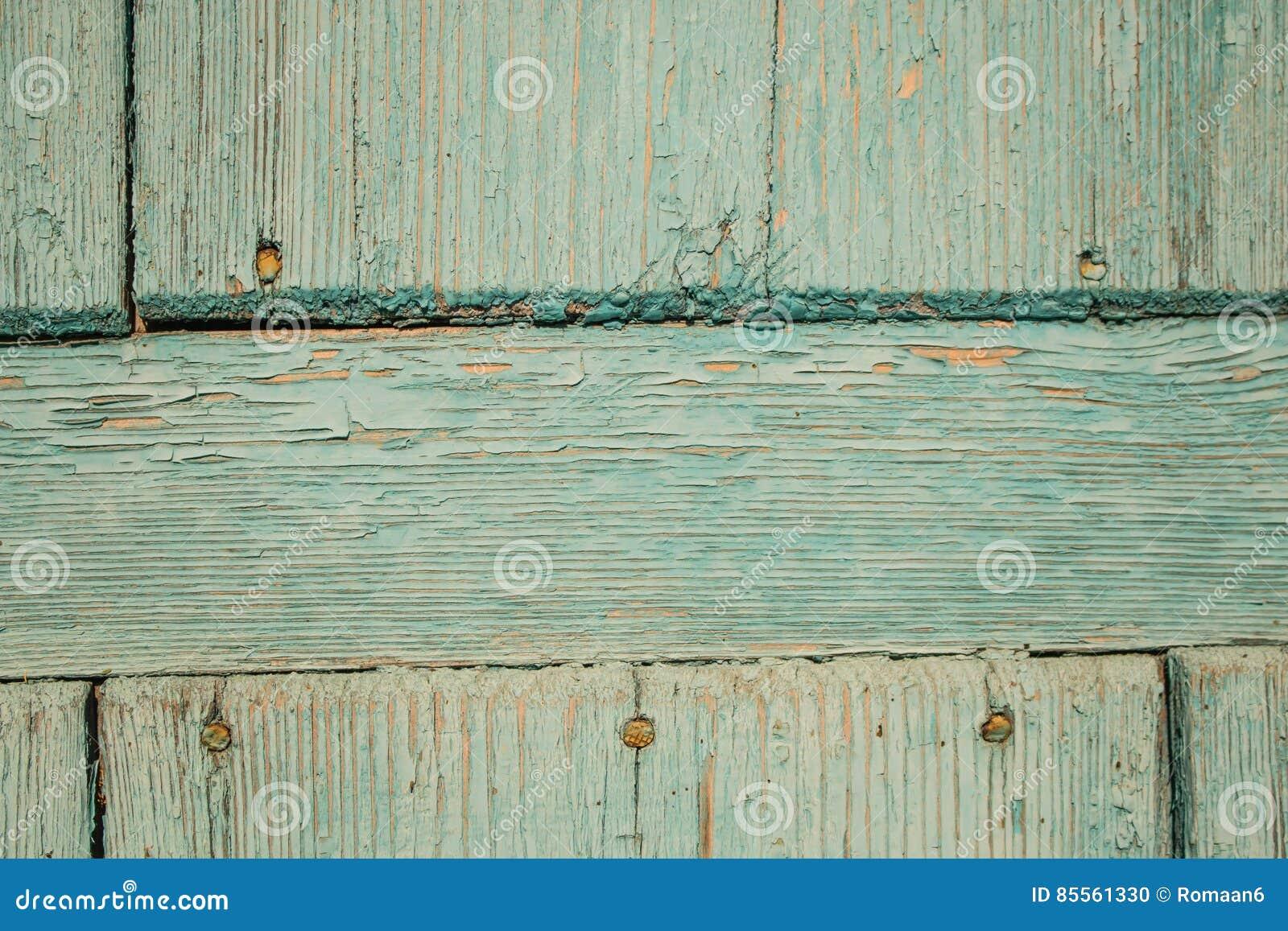 Alte blaue hölzerne Tür