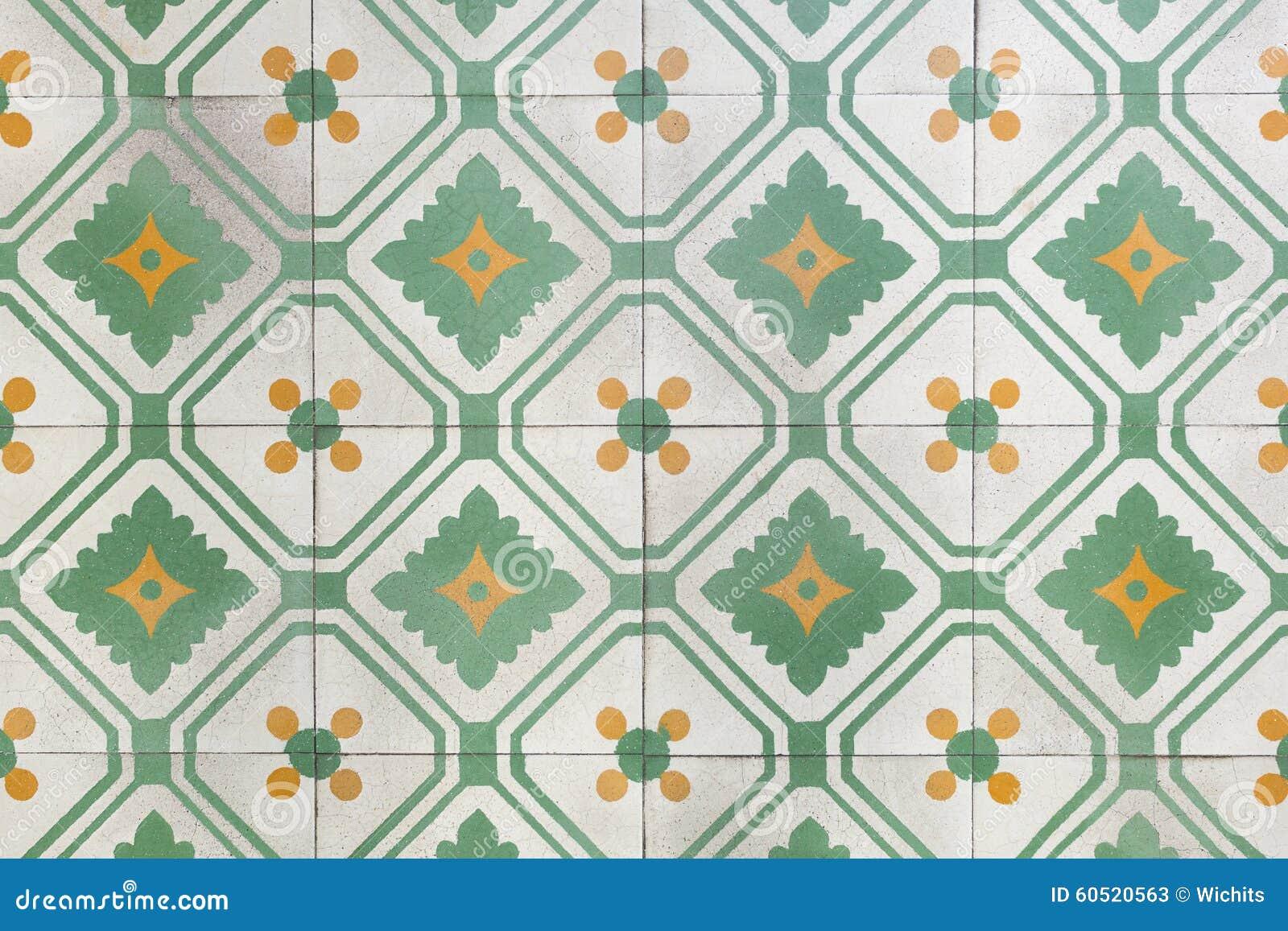 Alte Bodenfliesen Stockbild Bild Von Brokat Grun Dynastie 60520563
