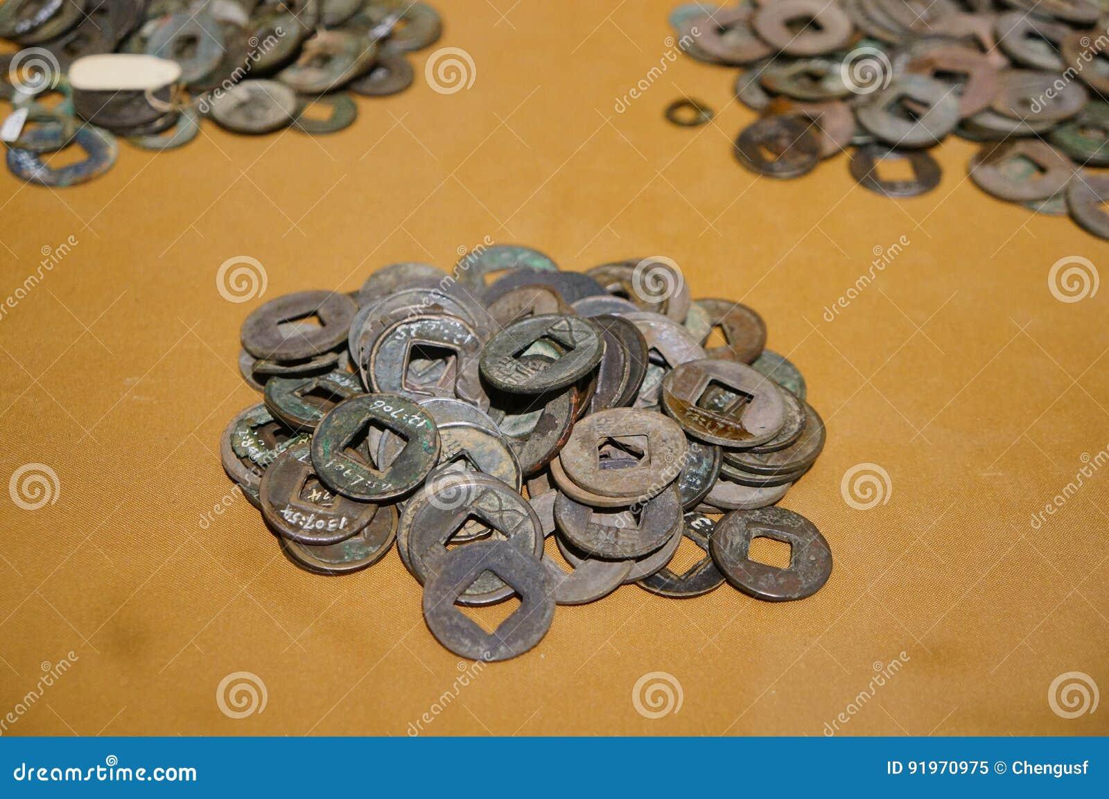 Alte Chinesische Münzen Stockbild Bild Von Chinesisch 91970975