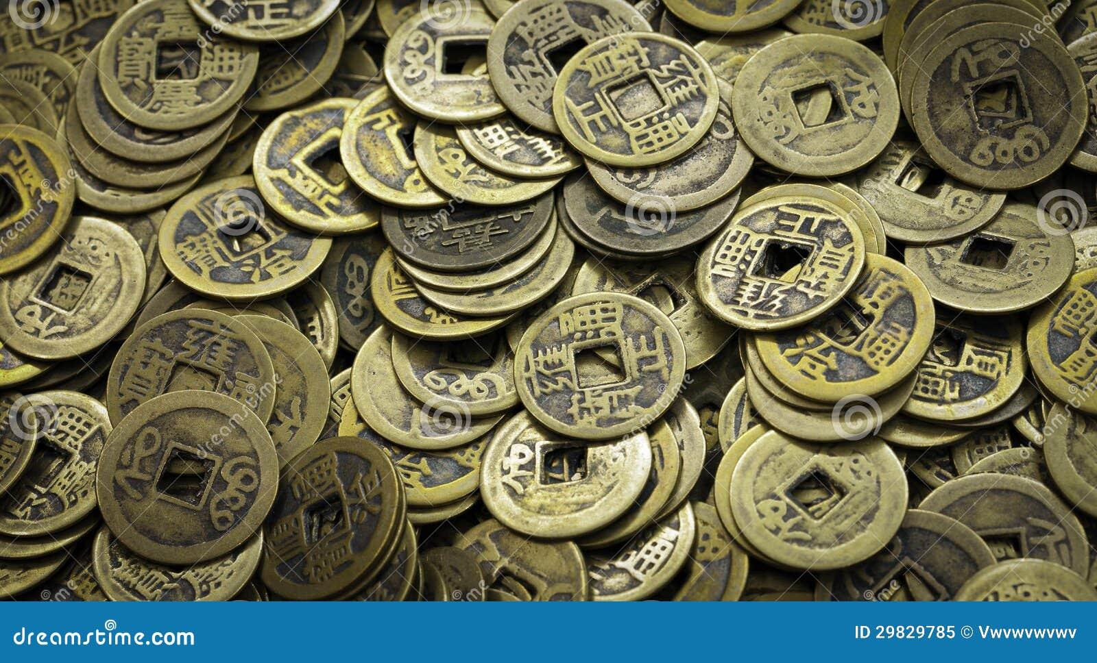 Alte Chinesische Münzen Stockbild Bild Von Antiken Zirkulation