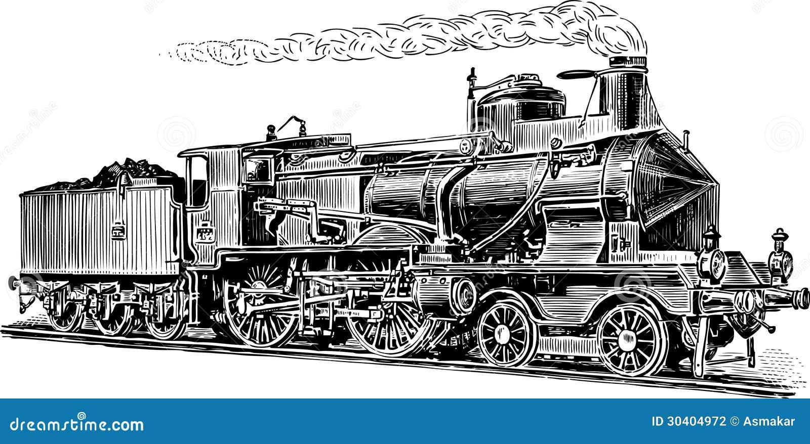 alte dampflokomotive vektor abbildung illustration von